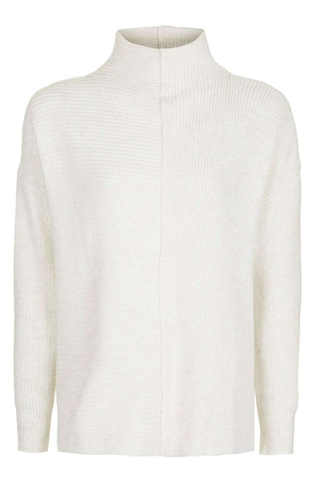 Alternate Image 5  - Topshop Mixed Knit Sweater