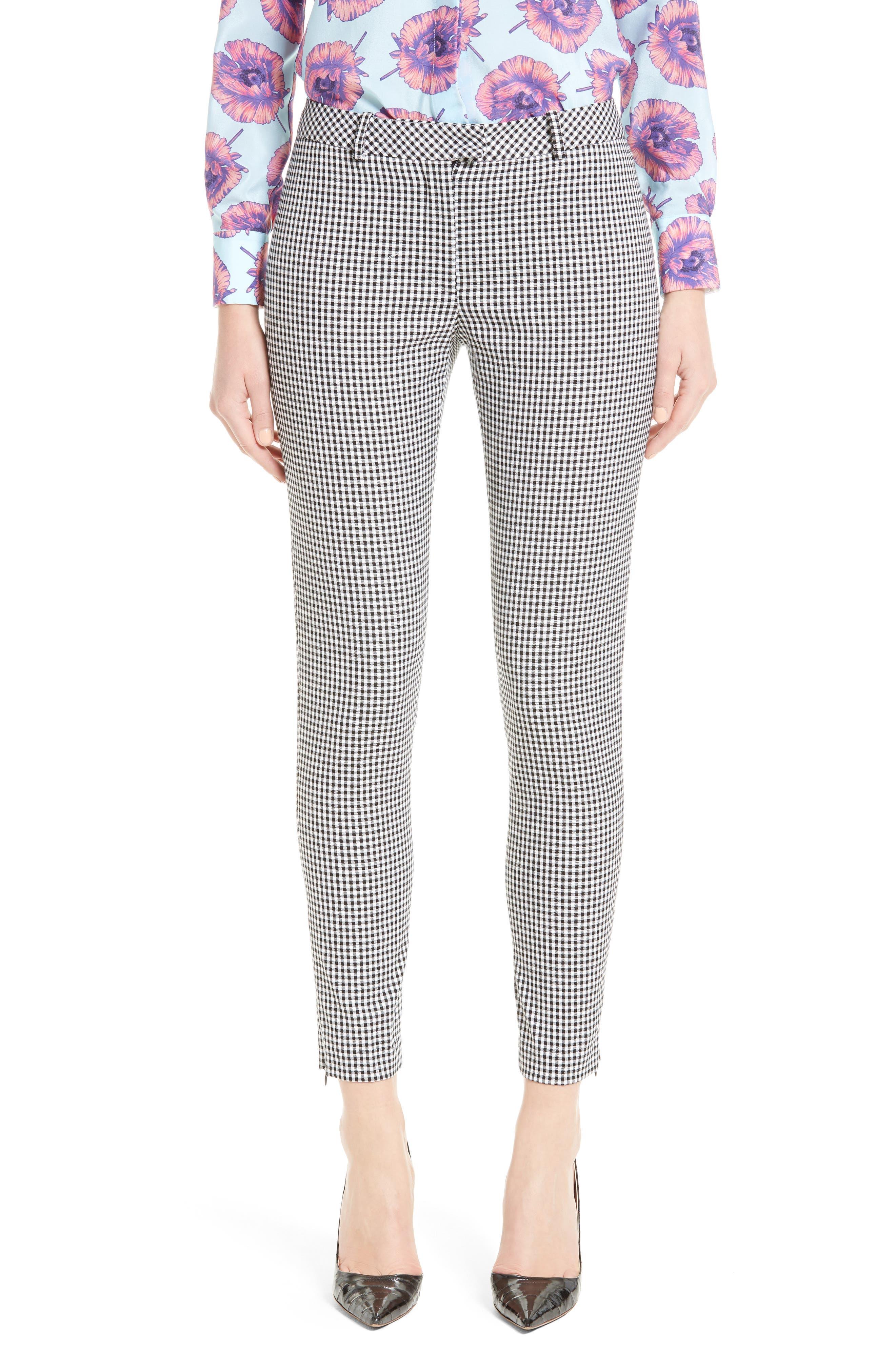 ALTUZARRA Henri Gingham Stretch Cotton Pants