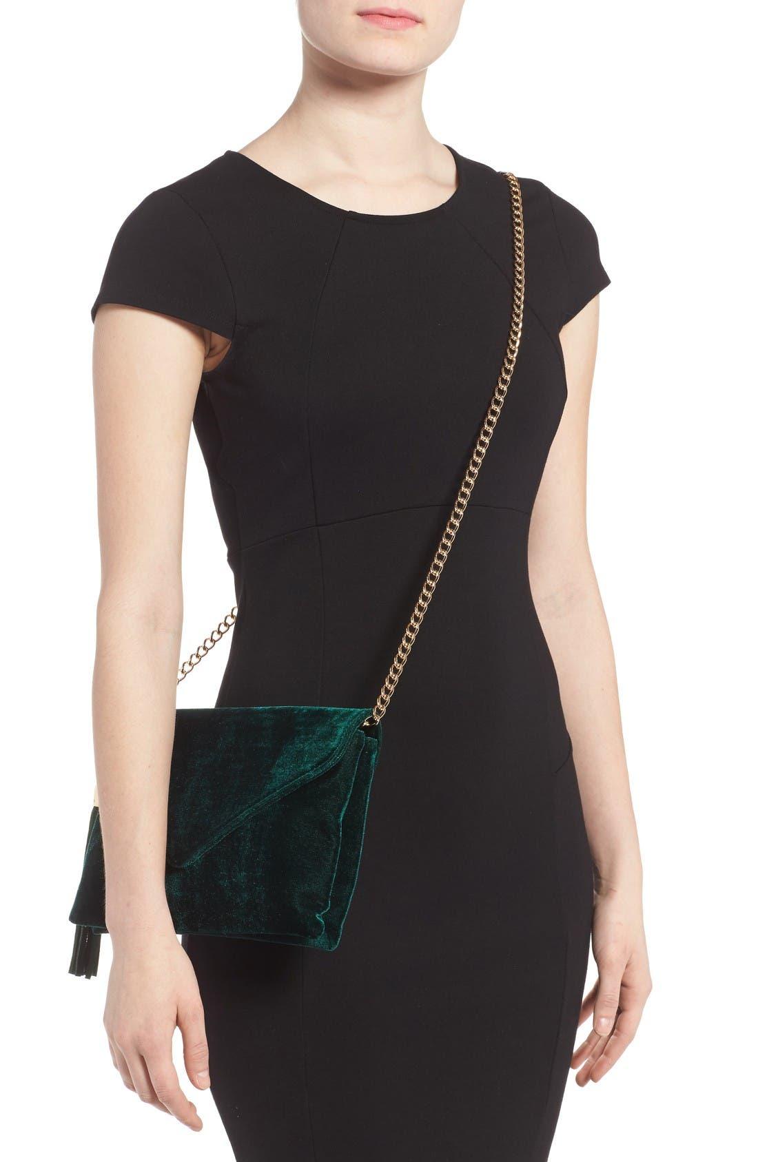 Alternate Image 2  - BP. Tassel Velvet Crossbody Bag