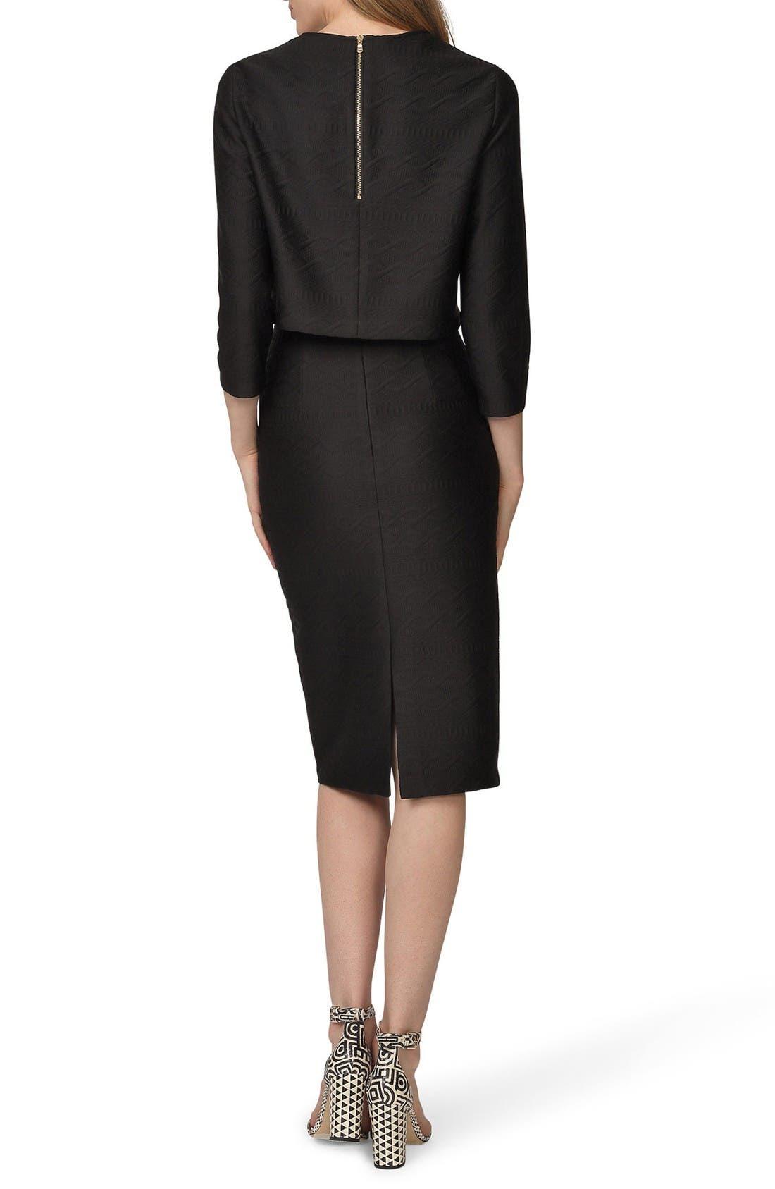 Alternate Image 2  - Donna Morgan Jacquard Two-Piece Dress