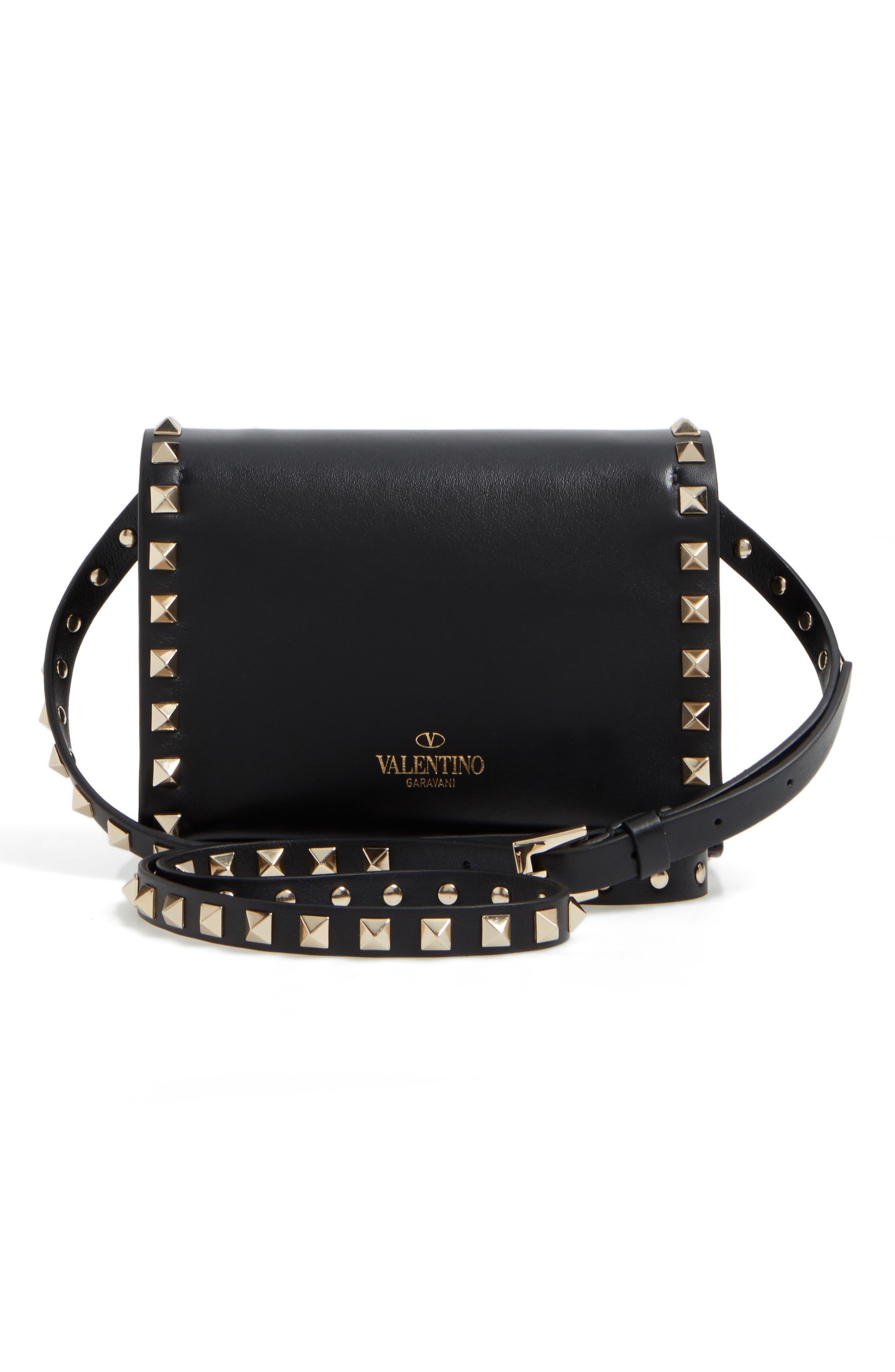 Alternate Image 3  - Valentino Small Rockstud Leather Shoulder Bag