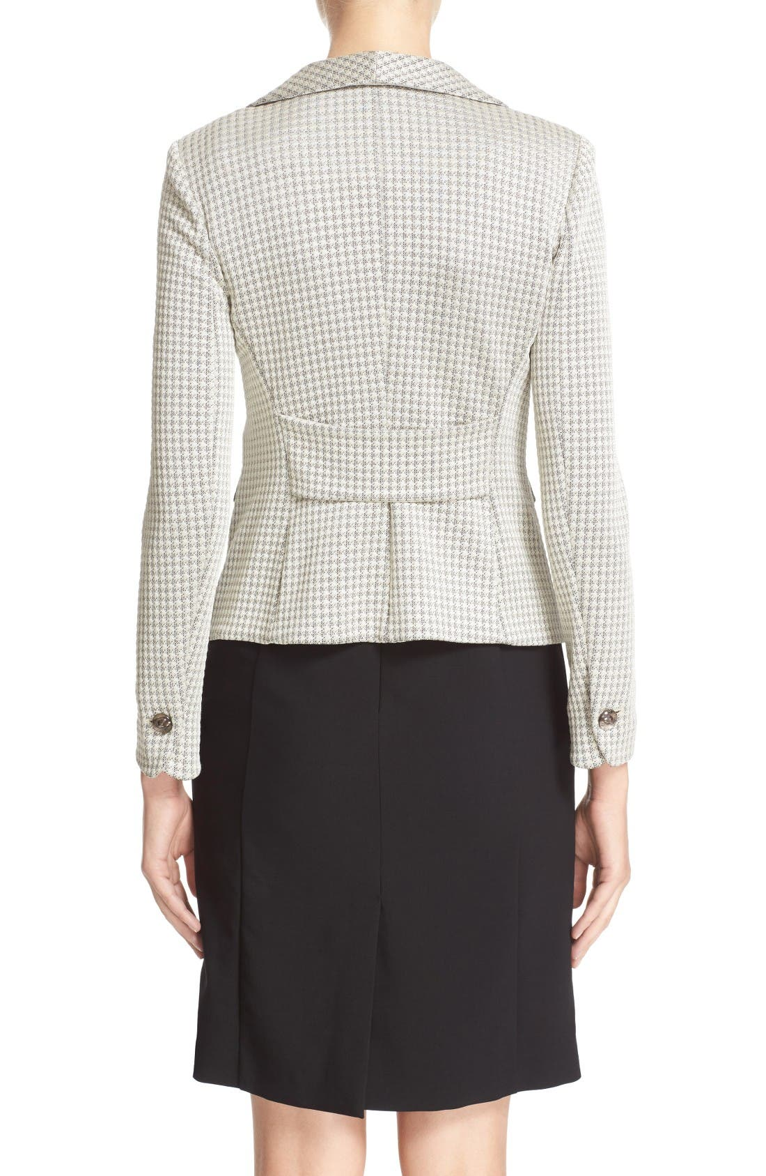 Alternate Image 2  - Armani Collezioni Houndstooth Jersey One-Button Blazer
