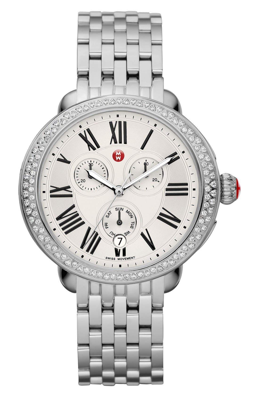 Alternate Image 2  - MICHELE 'Serein' 18mm Watch Bracelet Band