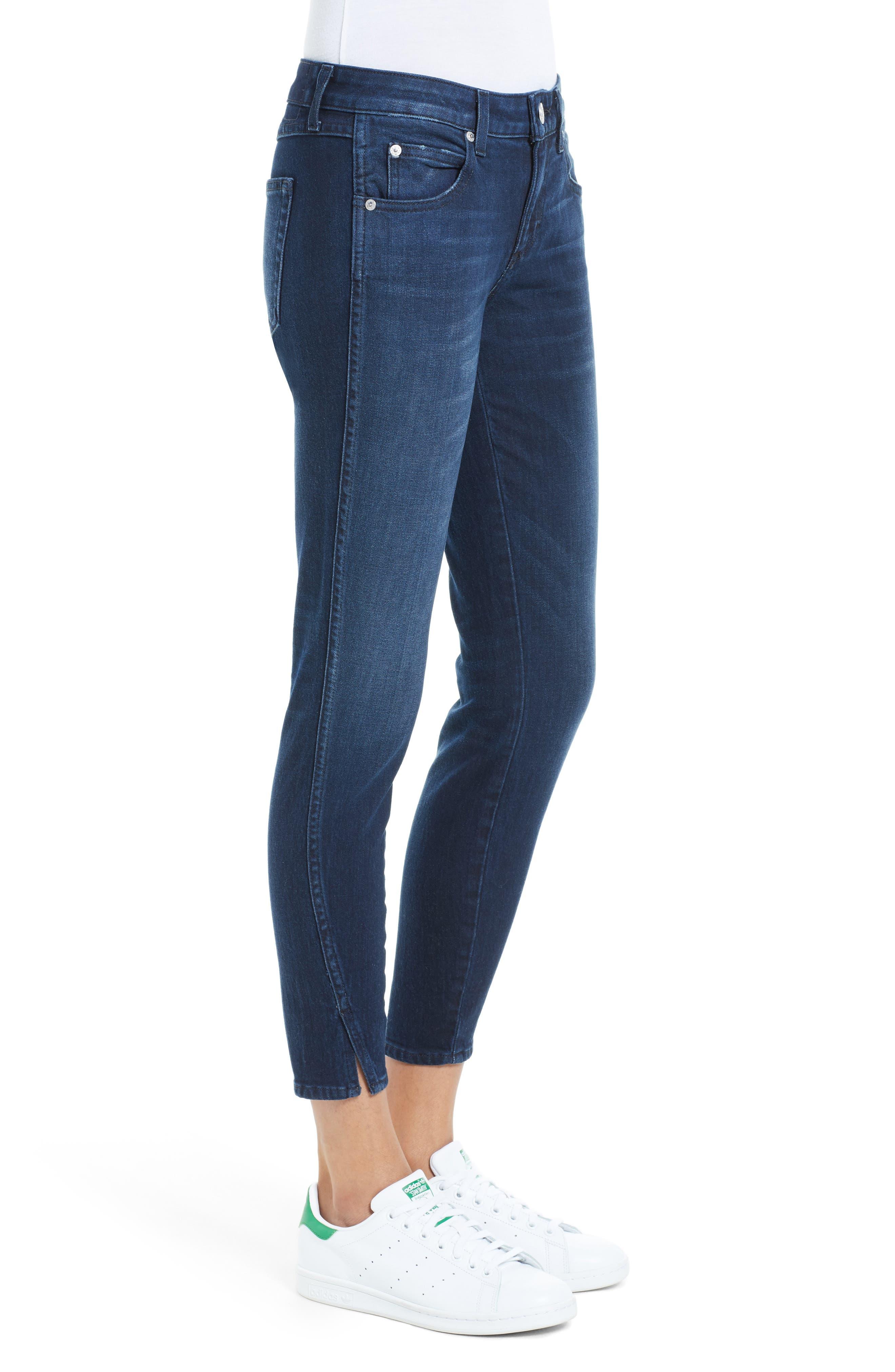 Alternate Image 3  - AMO 'Twist' Crop Skinny Jeans (Eclipse)