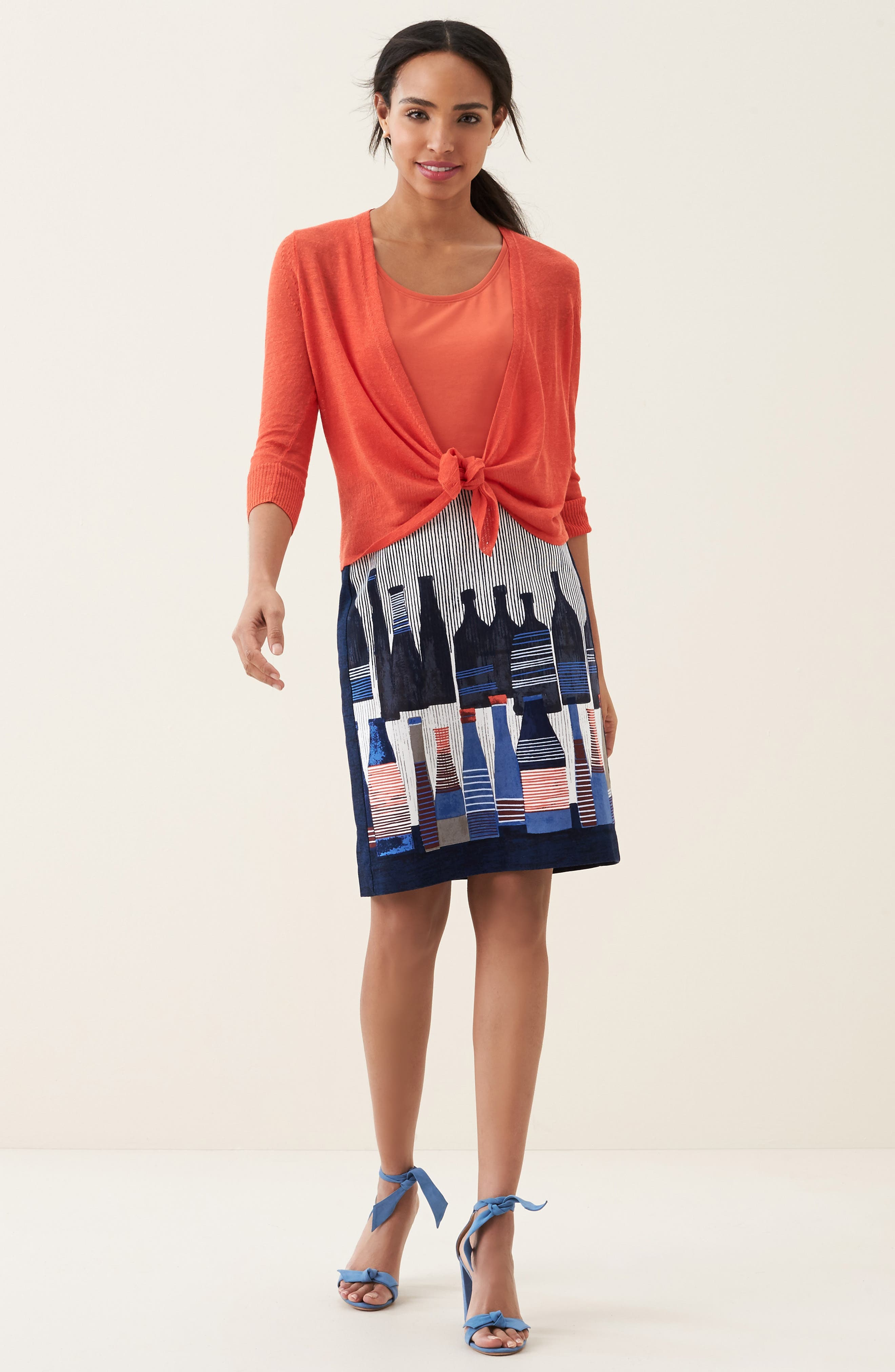 Alternate Image 2  - NIC+ZOE Spring Bottles Skirt (Regular & Petite)