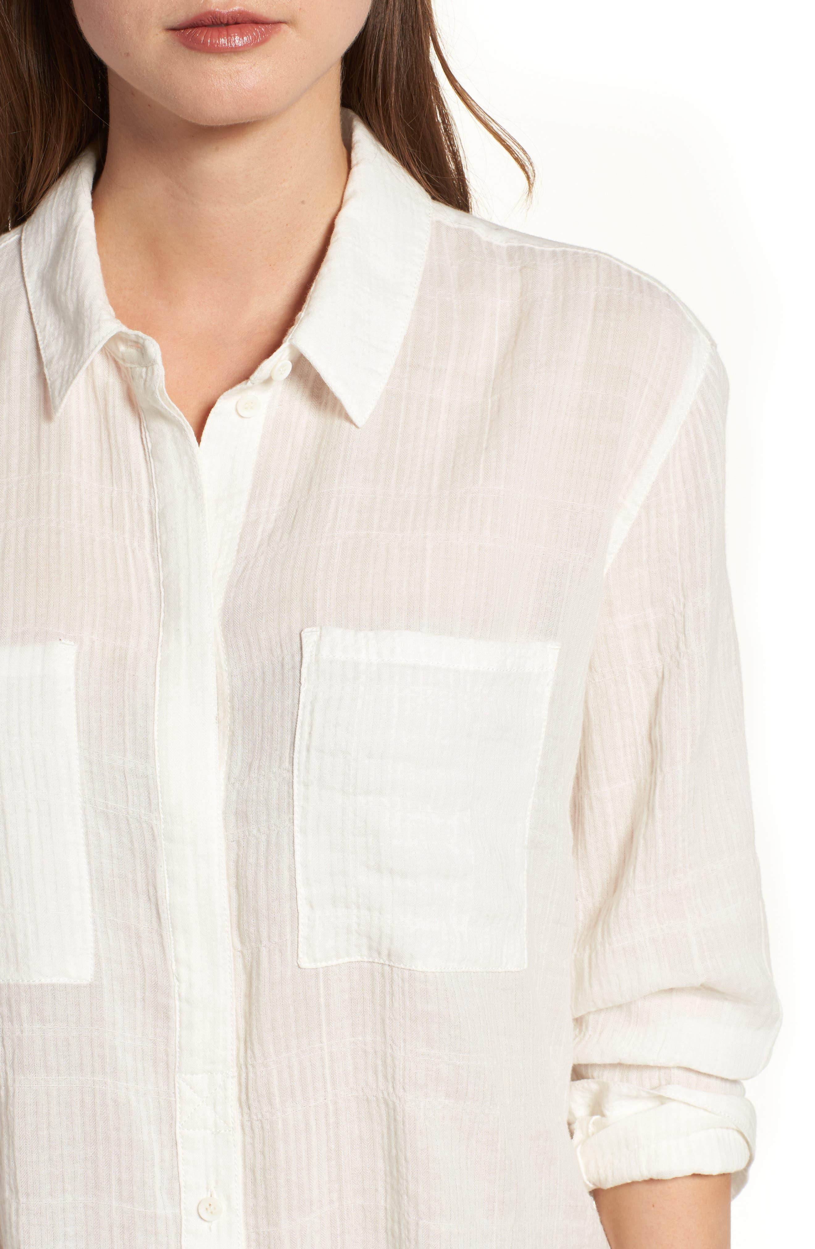 Alternate Image 4  - Treasure & Bond Crinkle Shirt
