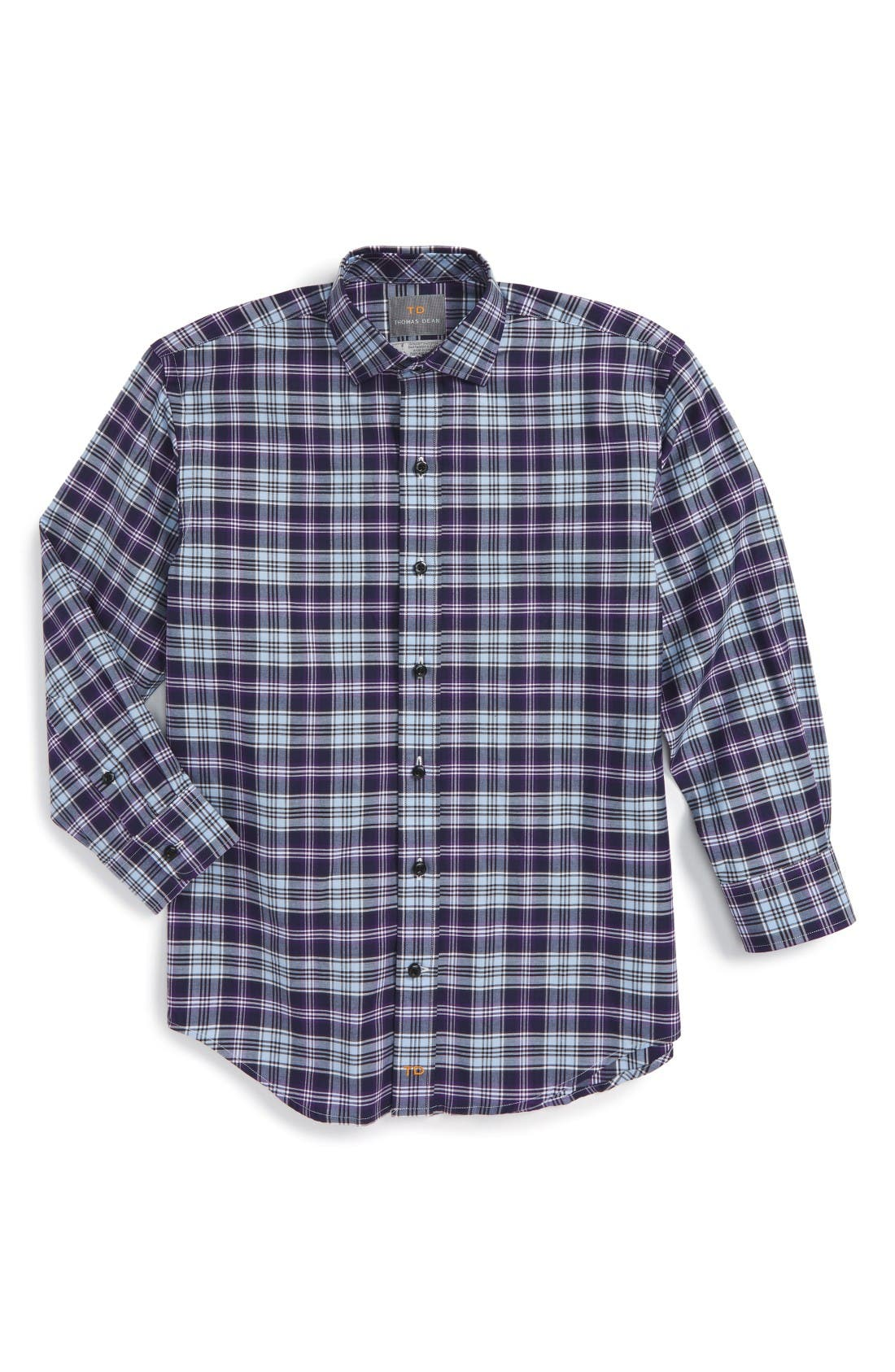 Main Image - Thomas Dean Plaid Dress Shirt (Little Boys & Big Boys)