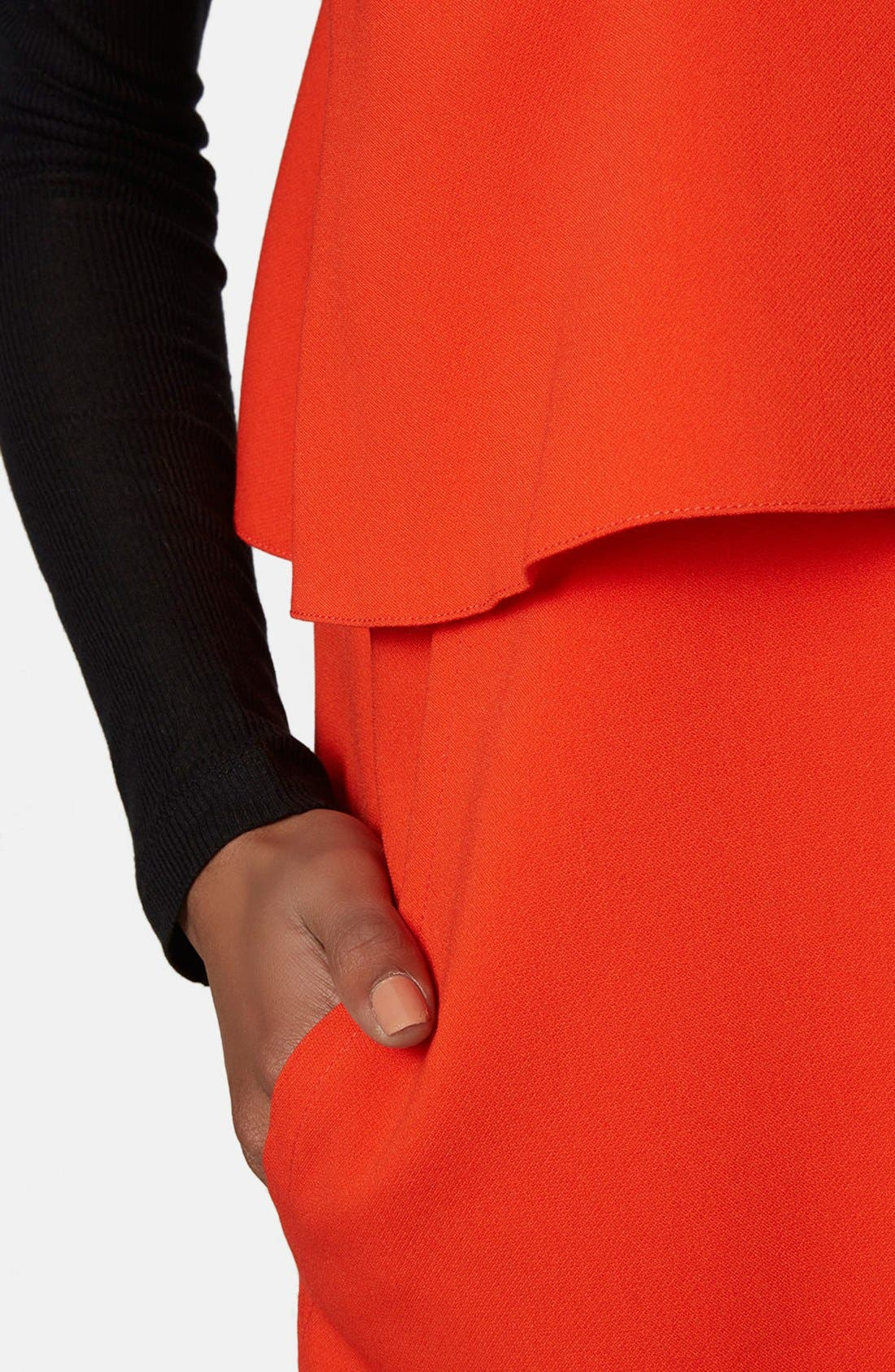 Alternate Image 4  - Topshop Boutique Crepe Layering Dress