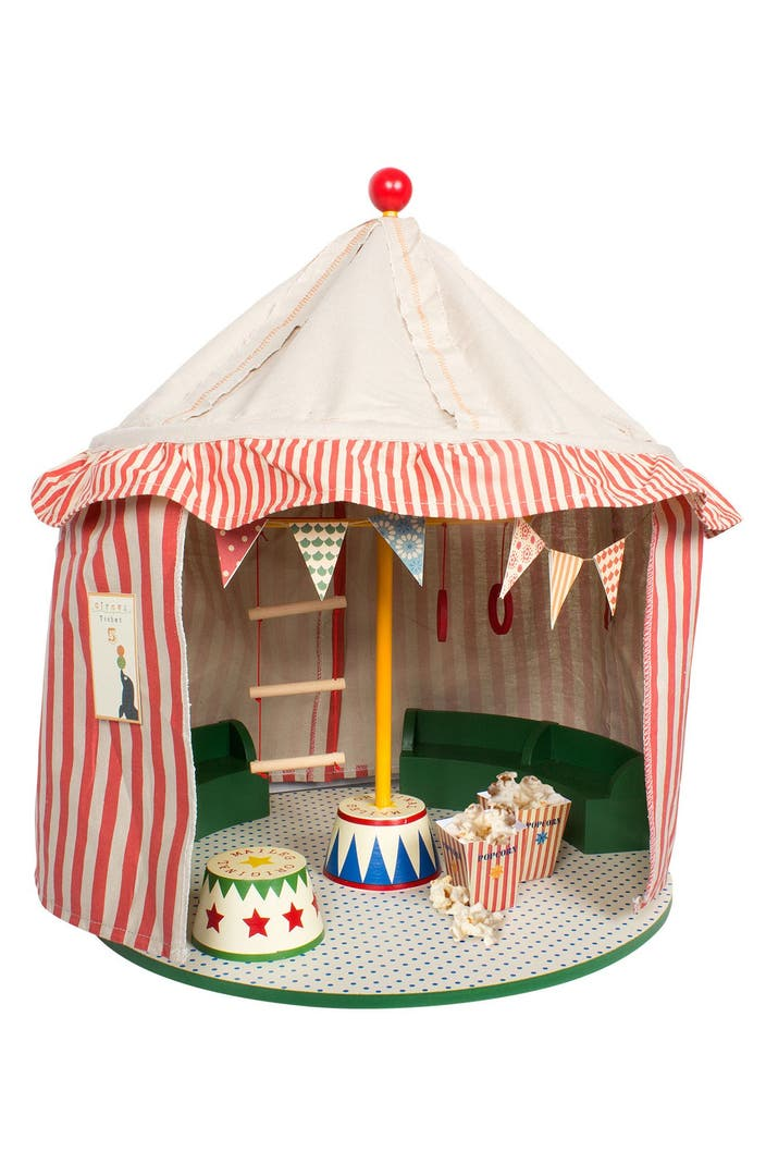Maileg Circus Play Tent with Eight Circus Performer ...
