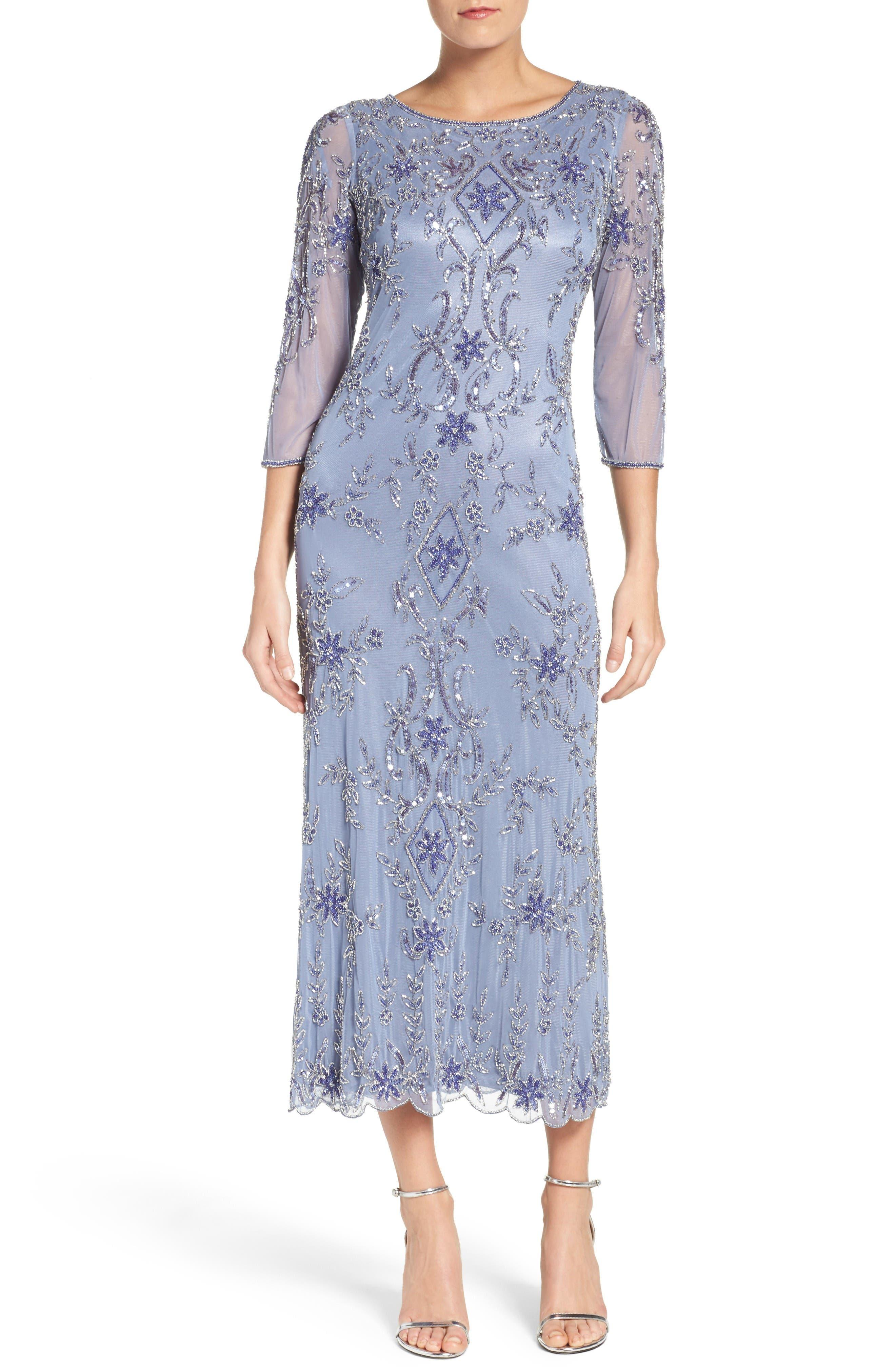 Main Image - Pisarro Nights Embellished Mesh Dress