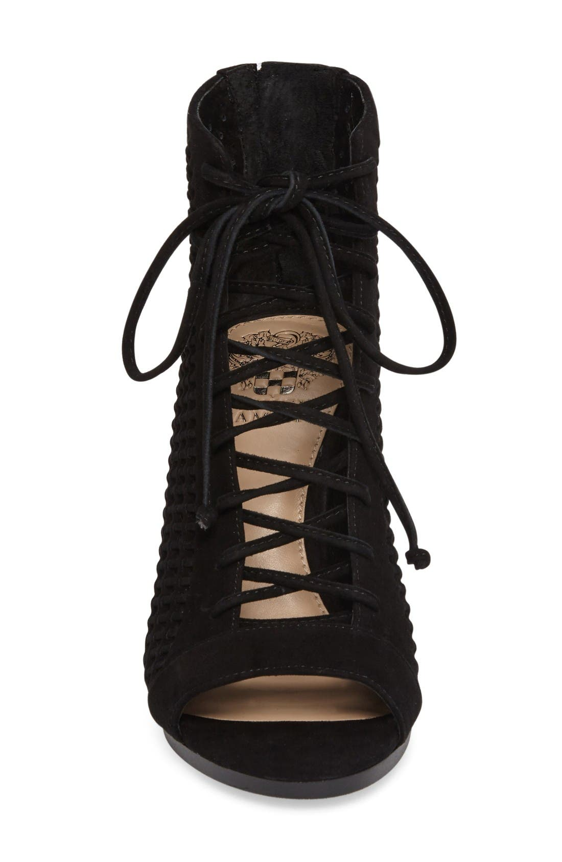 Alternate Image 3  - Vince Camuto Kevina Lace-Up Open Toe Bootie (Women)
