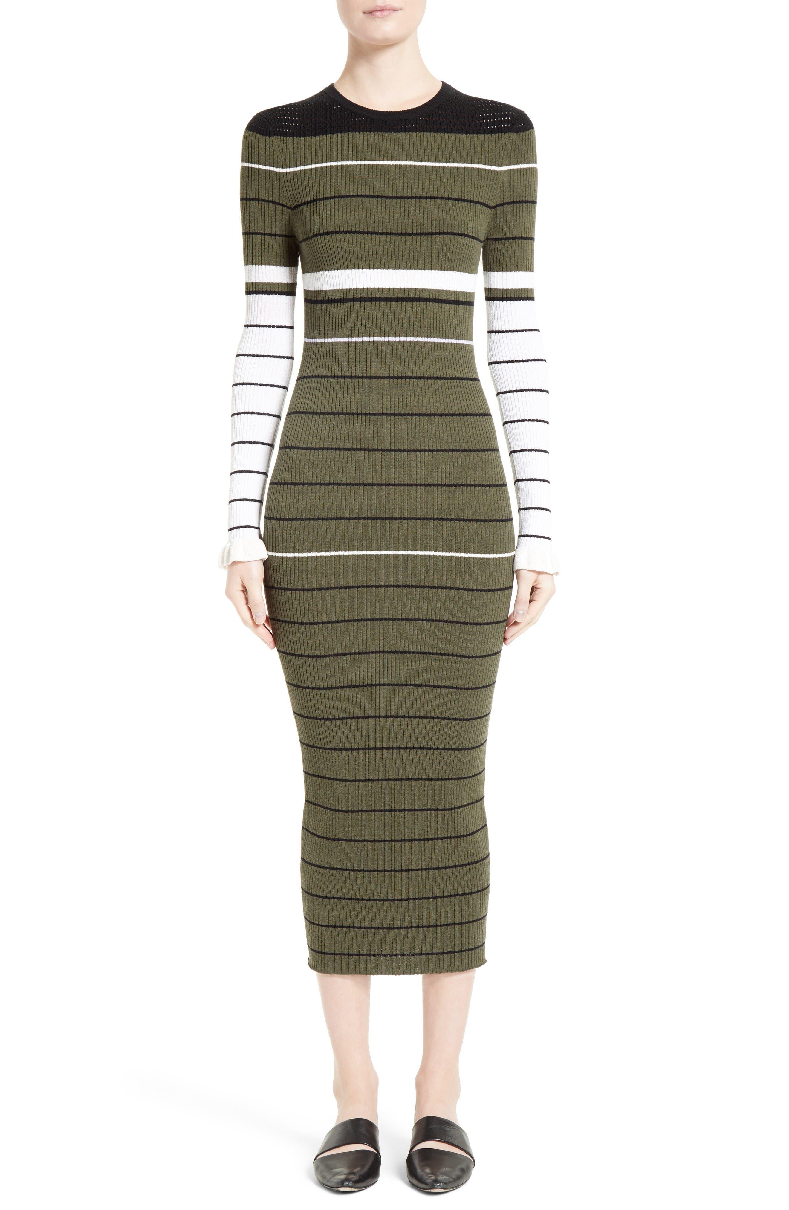 Alternate Image 1 Selected - Opening Ceremony Stripe Rib Knit Dress