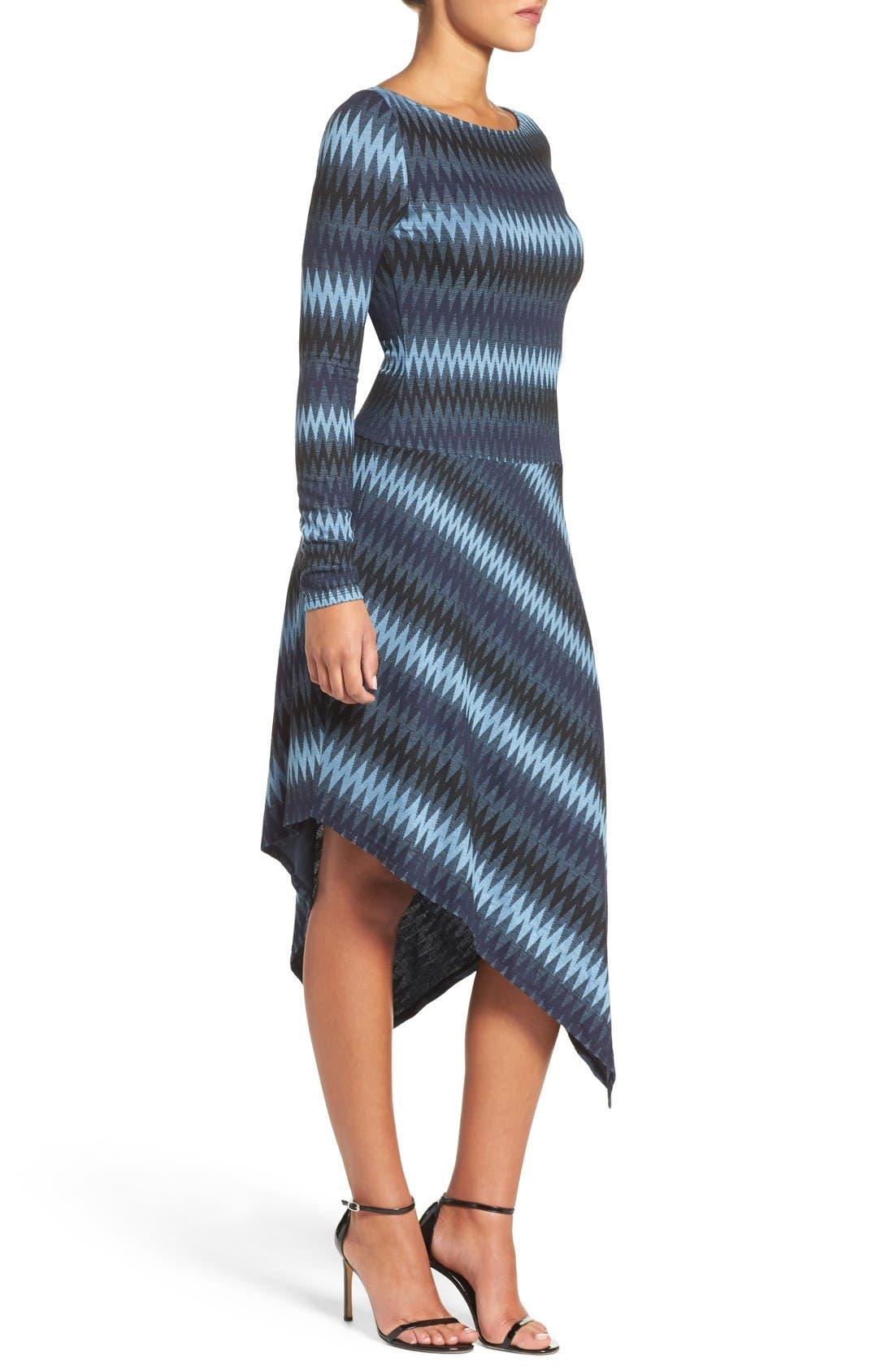 Alternate Image 3  - BCBGMAXAZRIA Asymmetrical Knit Dress