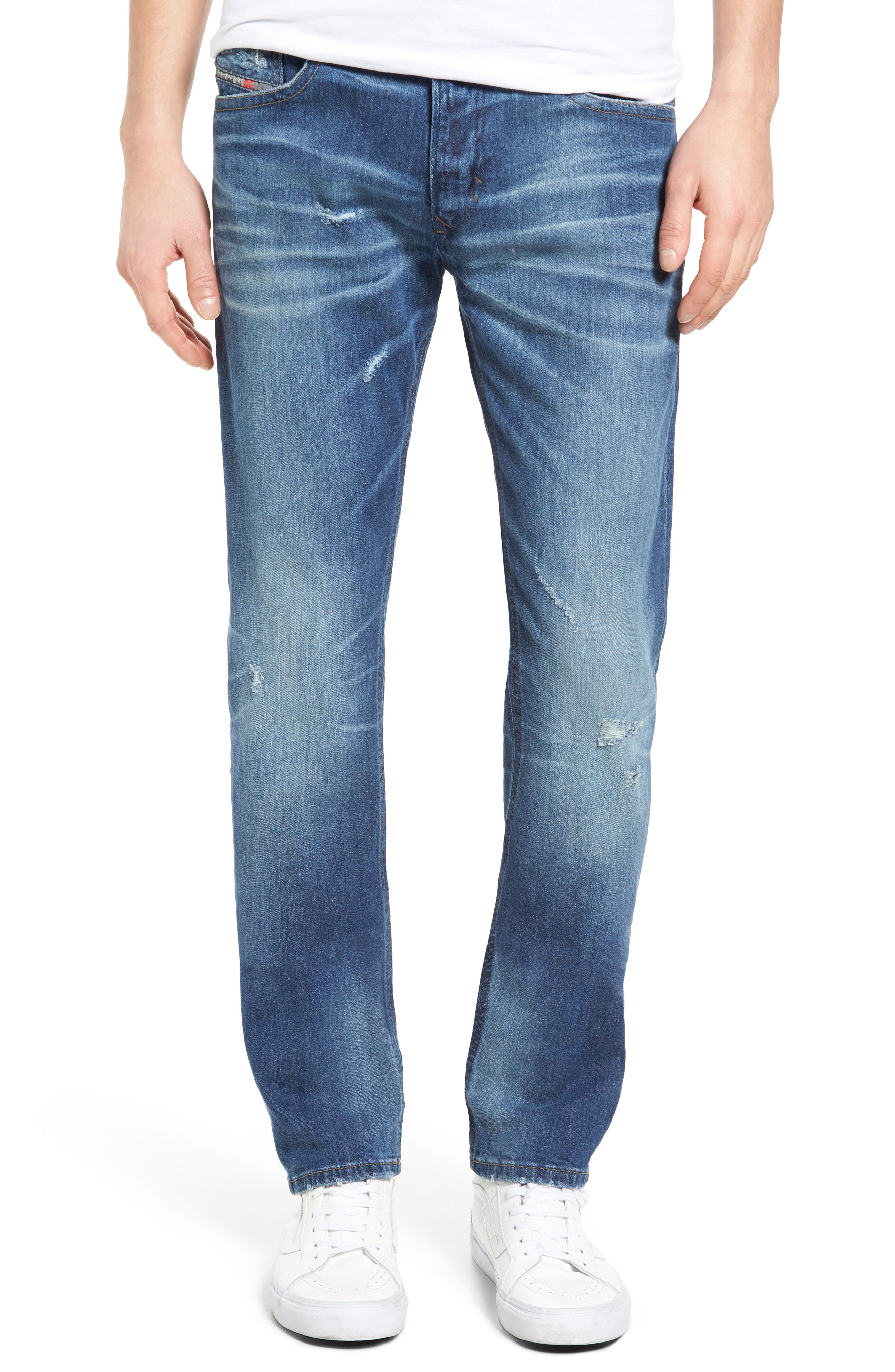 DIESEL® Thavar Skinny Fit Jeans (860F)