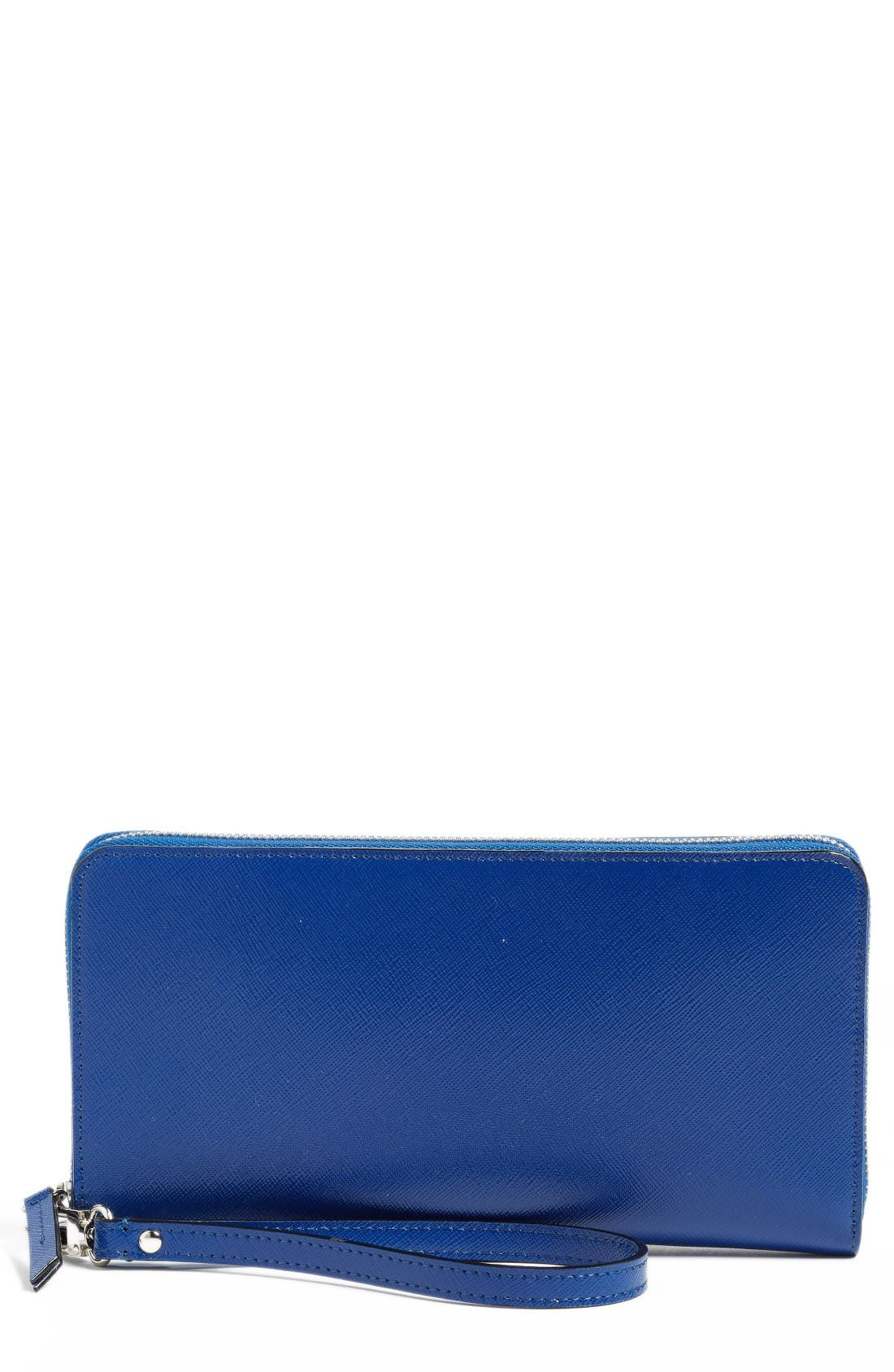 HALOGEN® Leather Zip Around Wallet