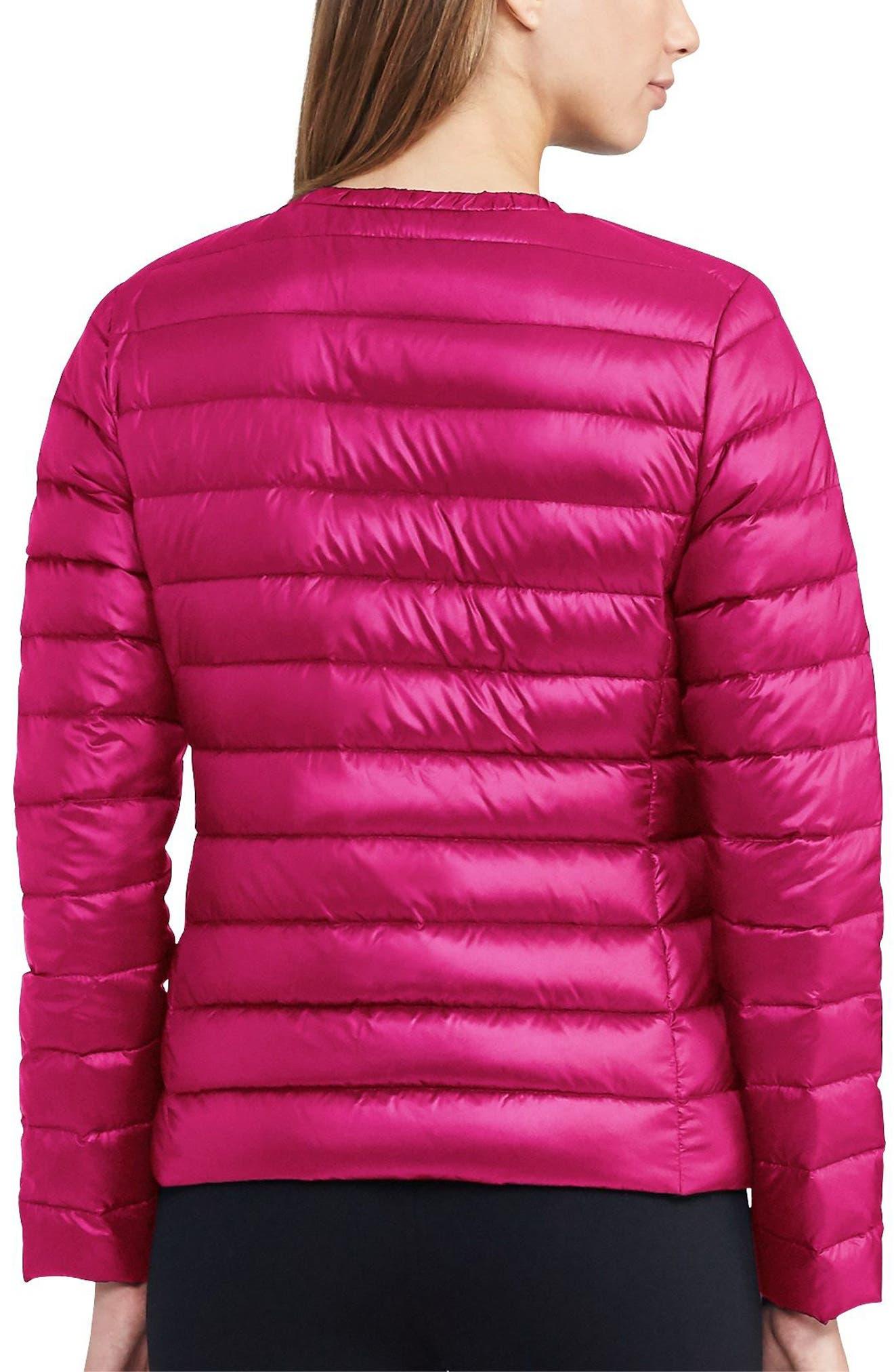Alternate Image 2  - Lauren Ralph Lauren Packable Quilted Collarless Down Jacket