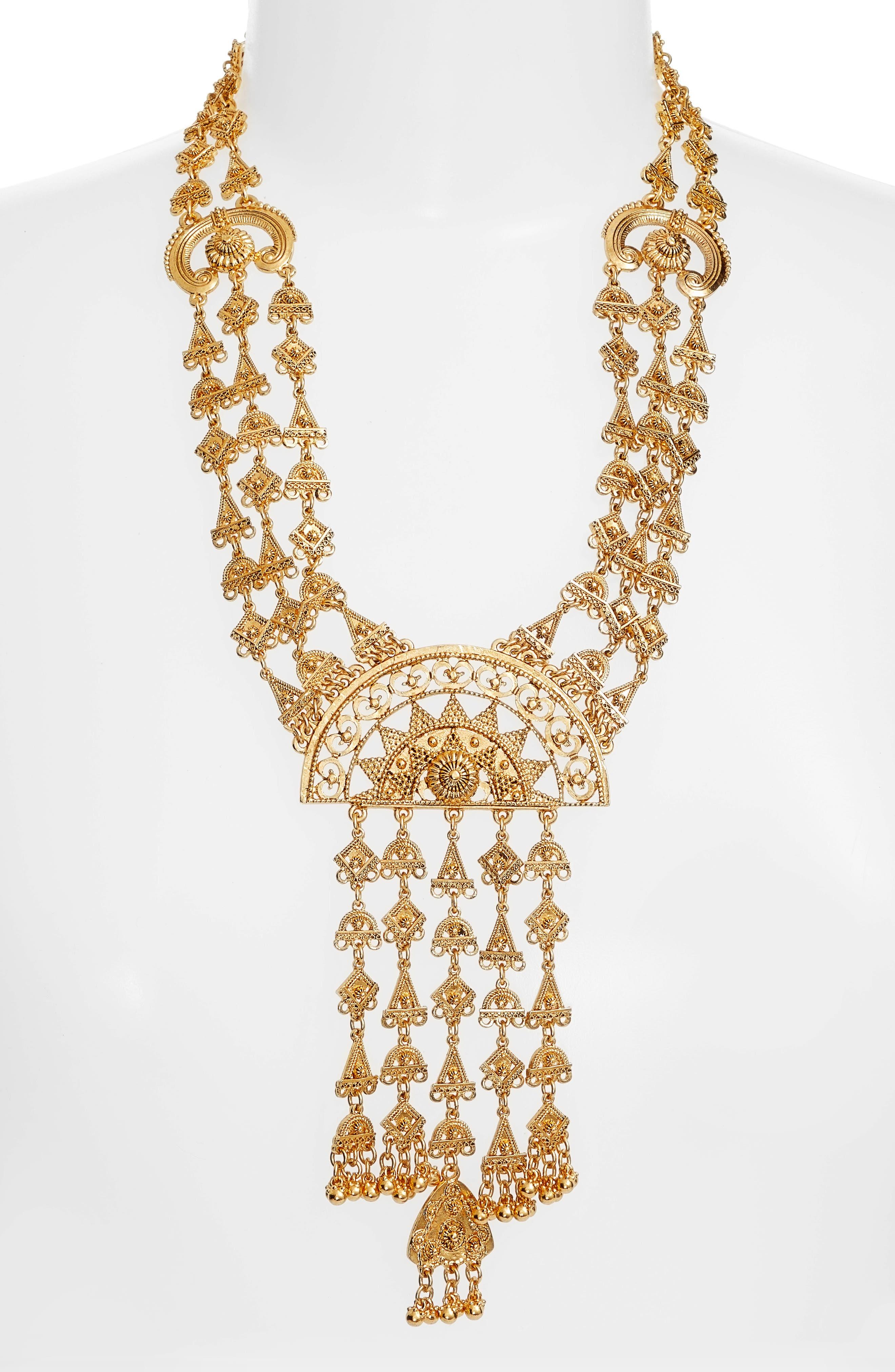 Alternate Image 2  - Oscar de la Renta Ornate Charm Necklace