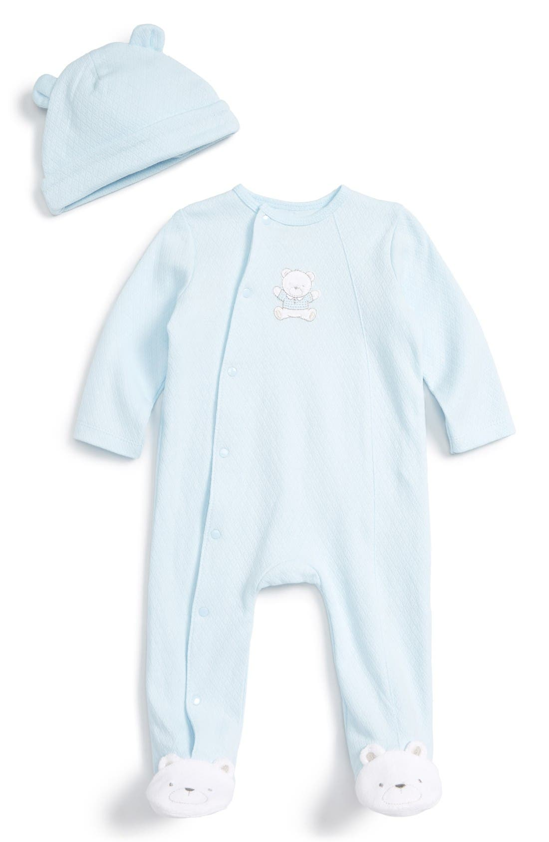 Little Me Bear Footie & Beanie Set (Baby Boys)