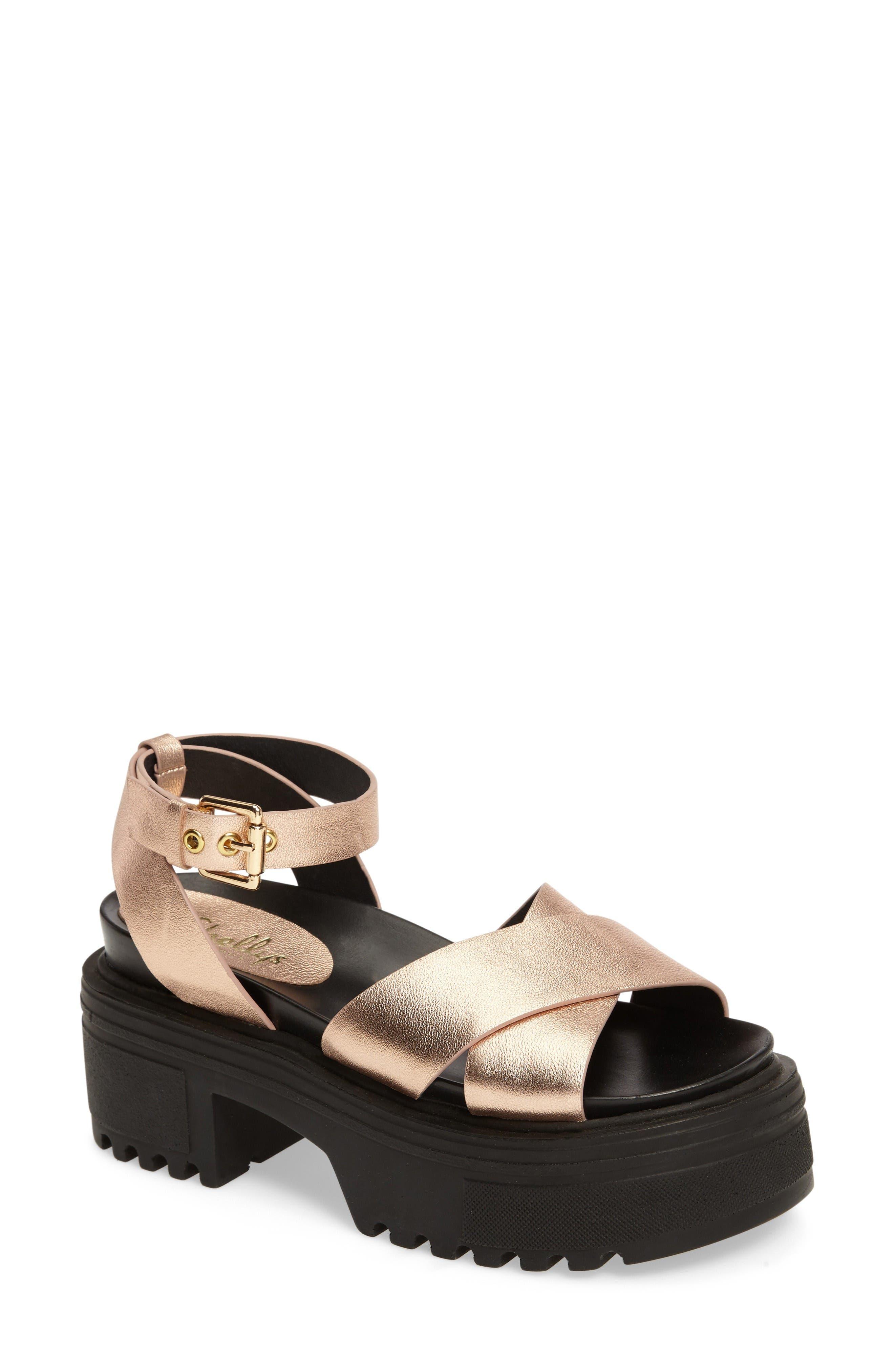 Shellys London Ankle Strap Platform Sandal (Women)
