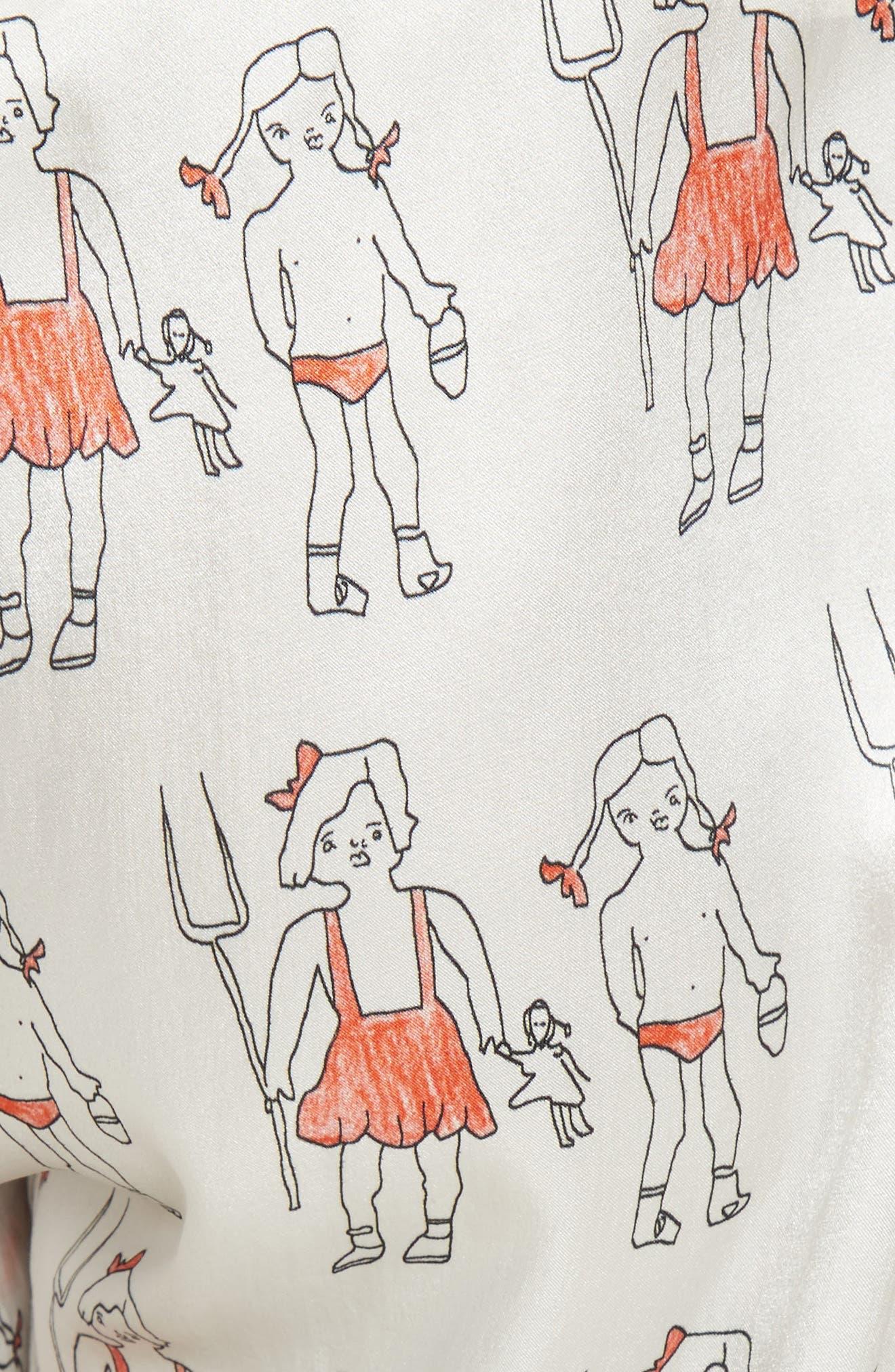 Alternate Image 3  - Shrimps Dagobert Silk Pajama Pants