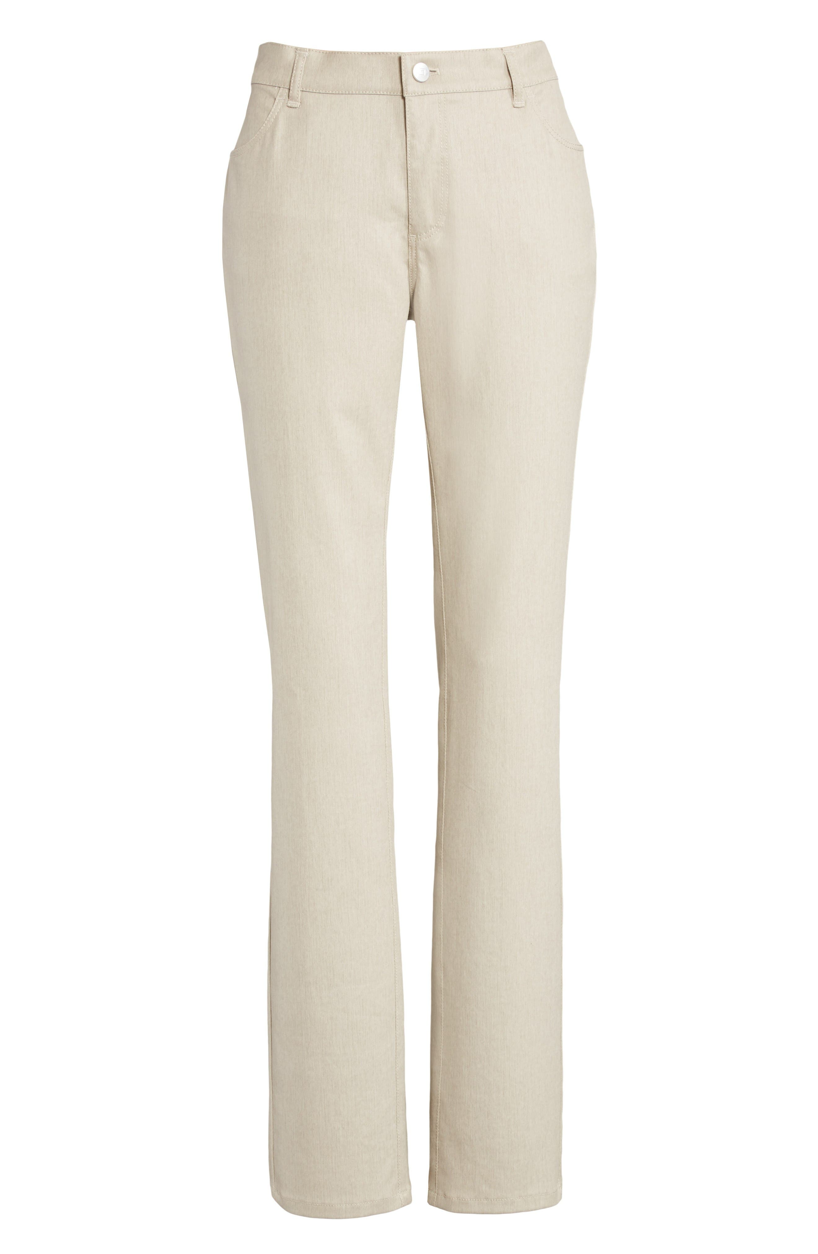 Alternate Image 4  - Lafayette 148 New York Waxed Denim Slim Leg Jeans (Regular & Petite)
