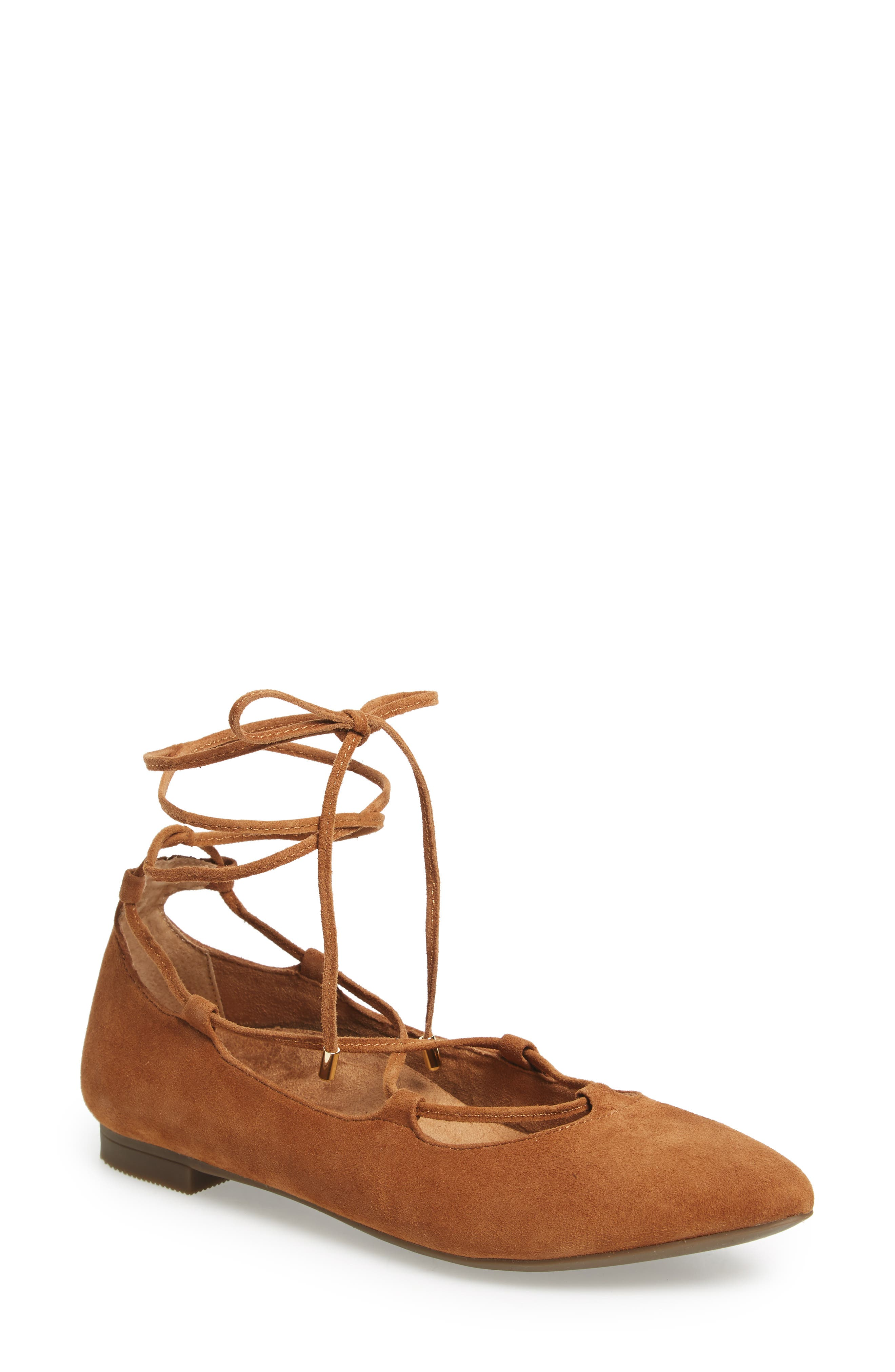 Alternate Image 1 Selected - Vionic Lucinda Ghillie Lace Flat (Women)