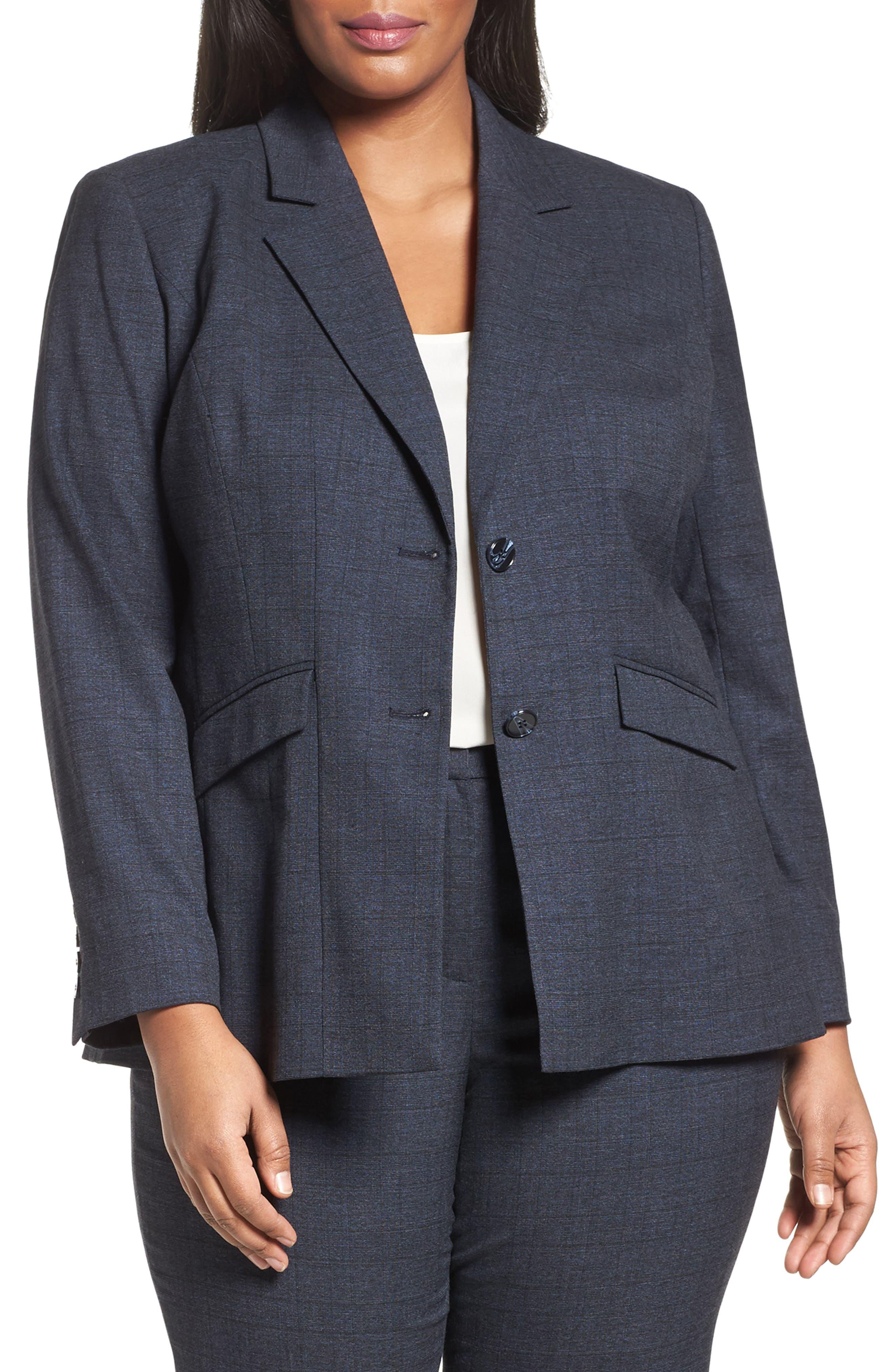 Sejour Marine Suit Jacket (Plus Size & Petite Plus)