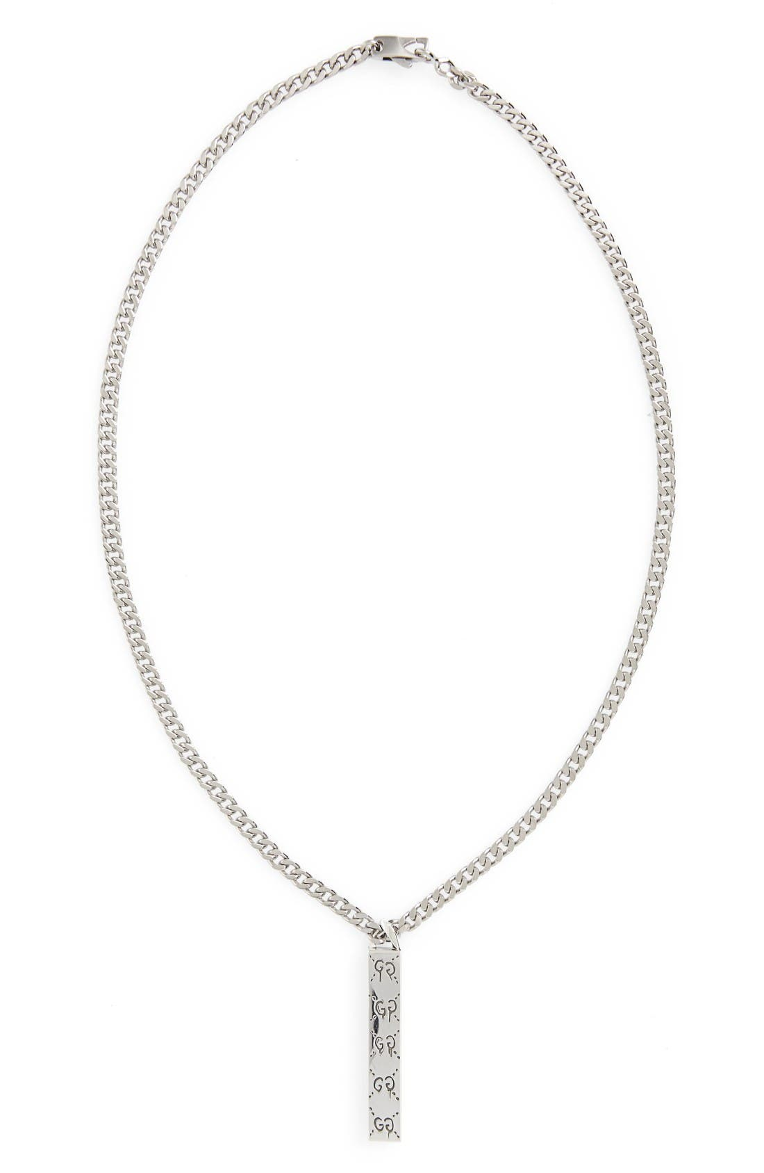 Gucci Ghost Motif Pendant Necklace