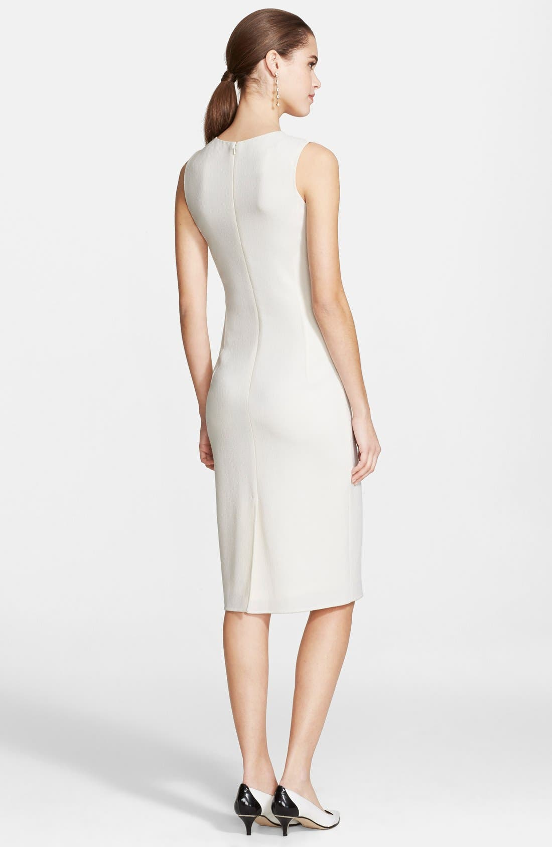 Alternate Image 2  - Oscar de la Renta Wool Crepe Pencil Dress