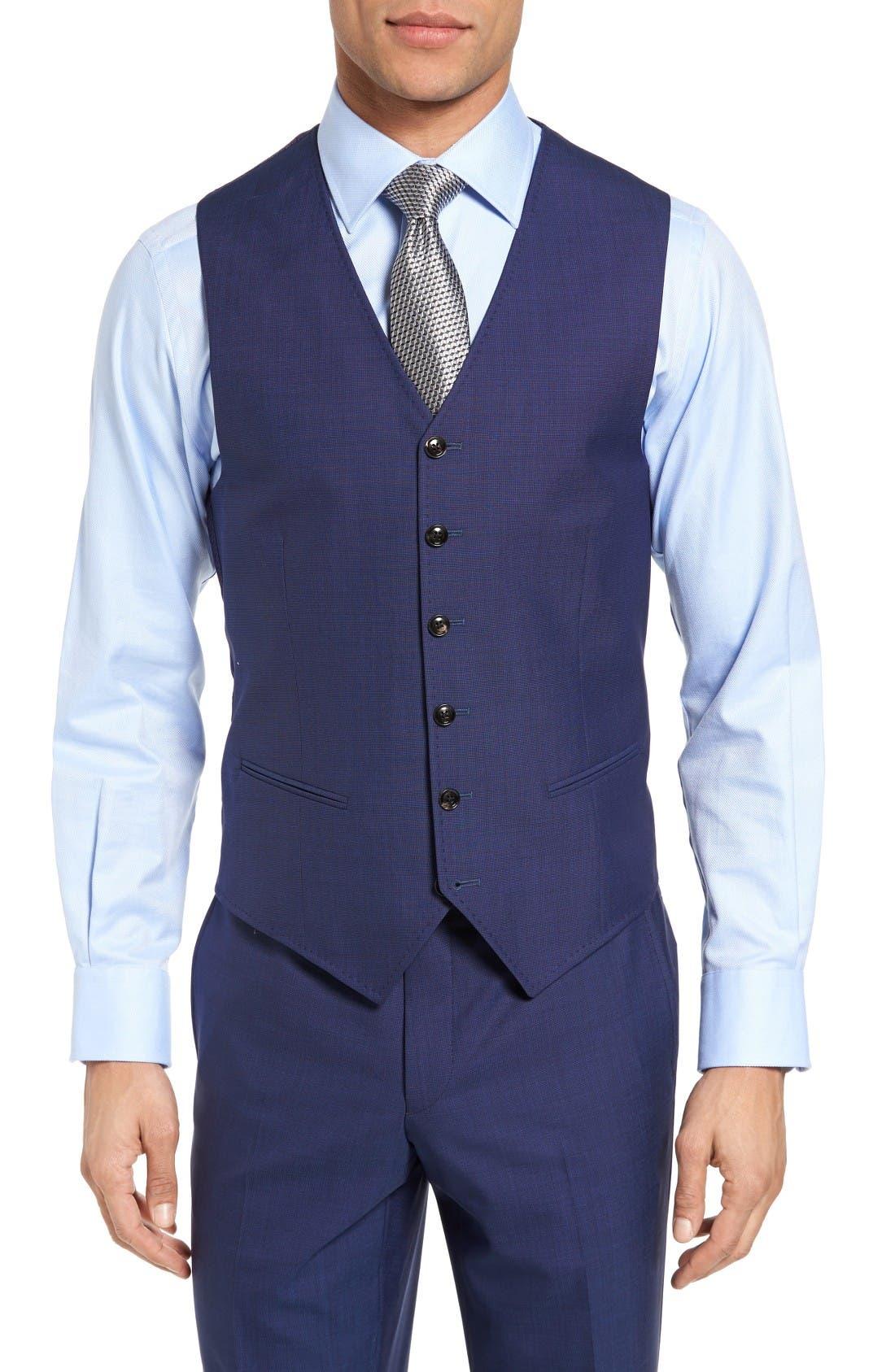 Ted Baker London Jones Trim Fit Wool Vest