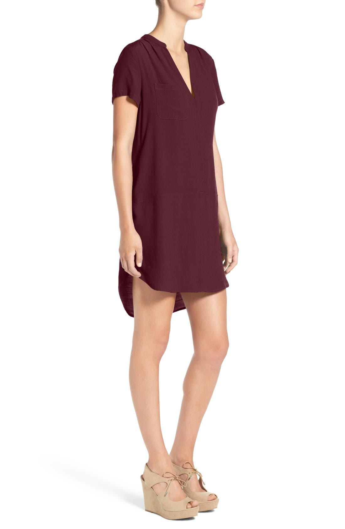 Alternate Image 3  - Lush Split Neck Shift Dress