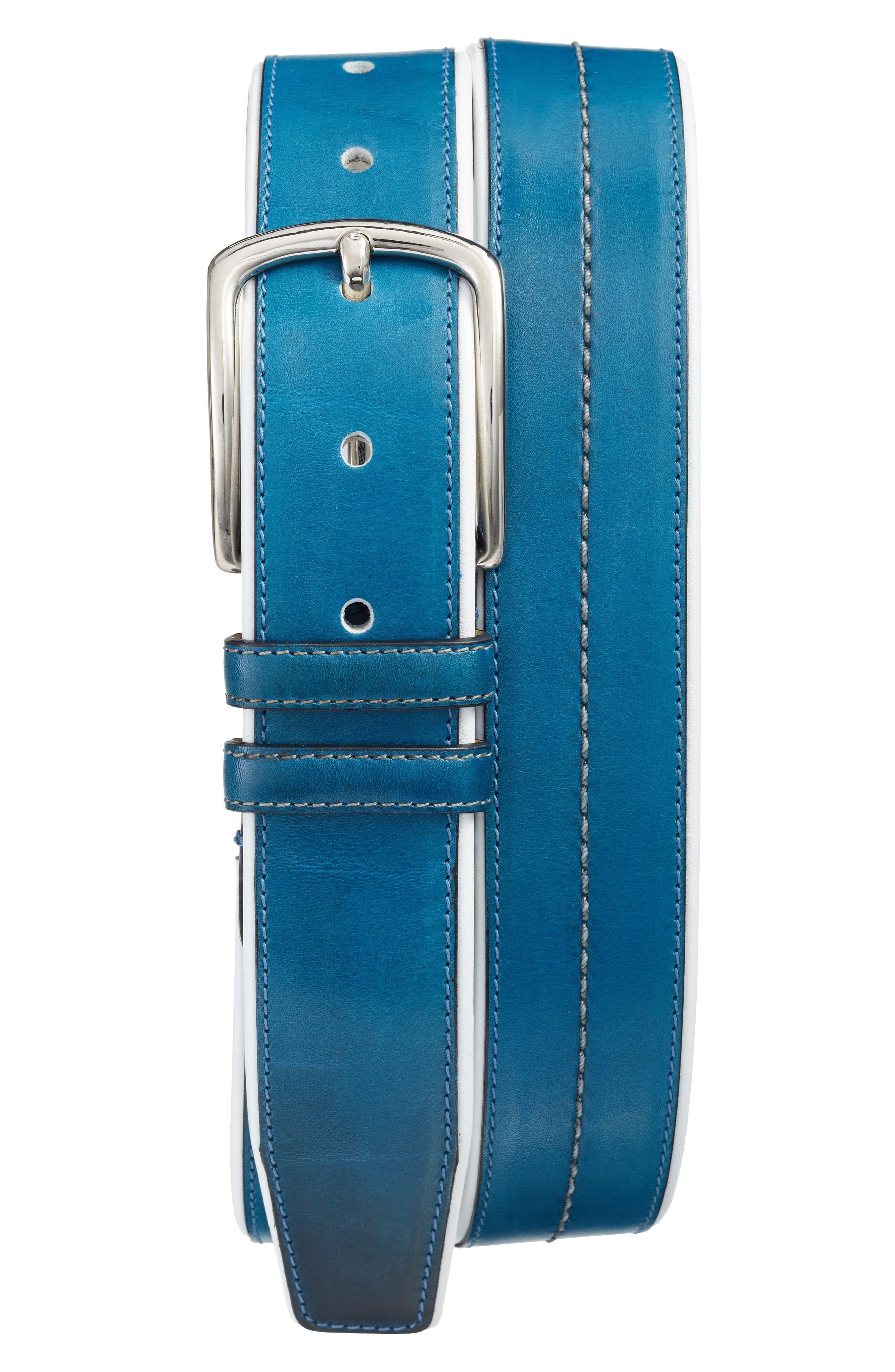 Mezlan Palma/Talco Leather Belt