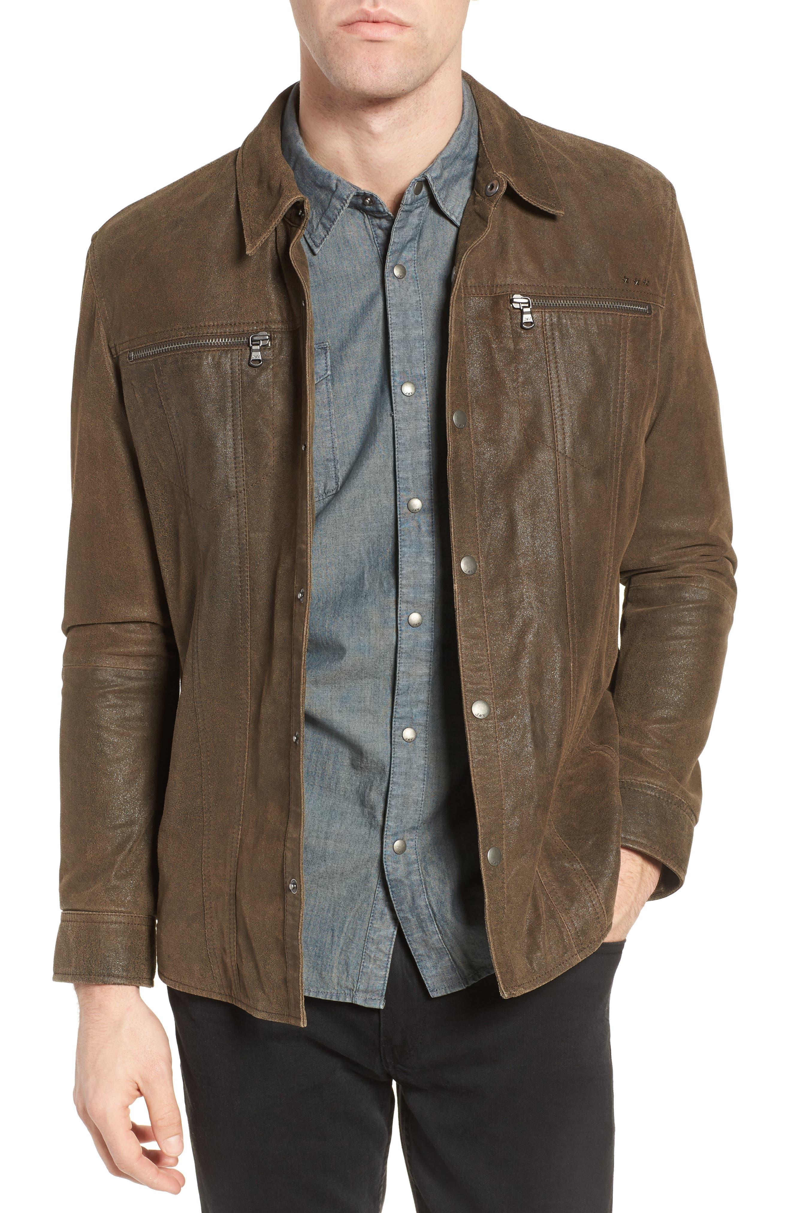 JOHN VARVATOS STAR USA Leather Shirt Jacket