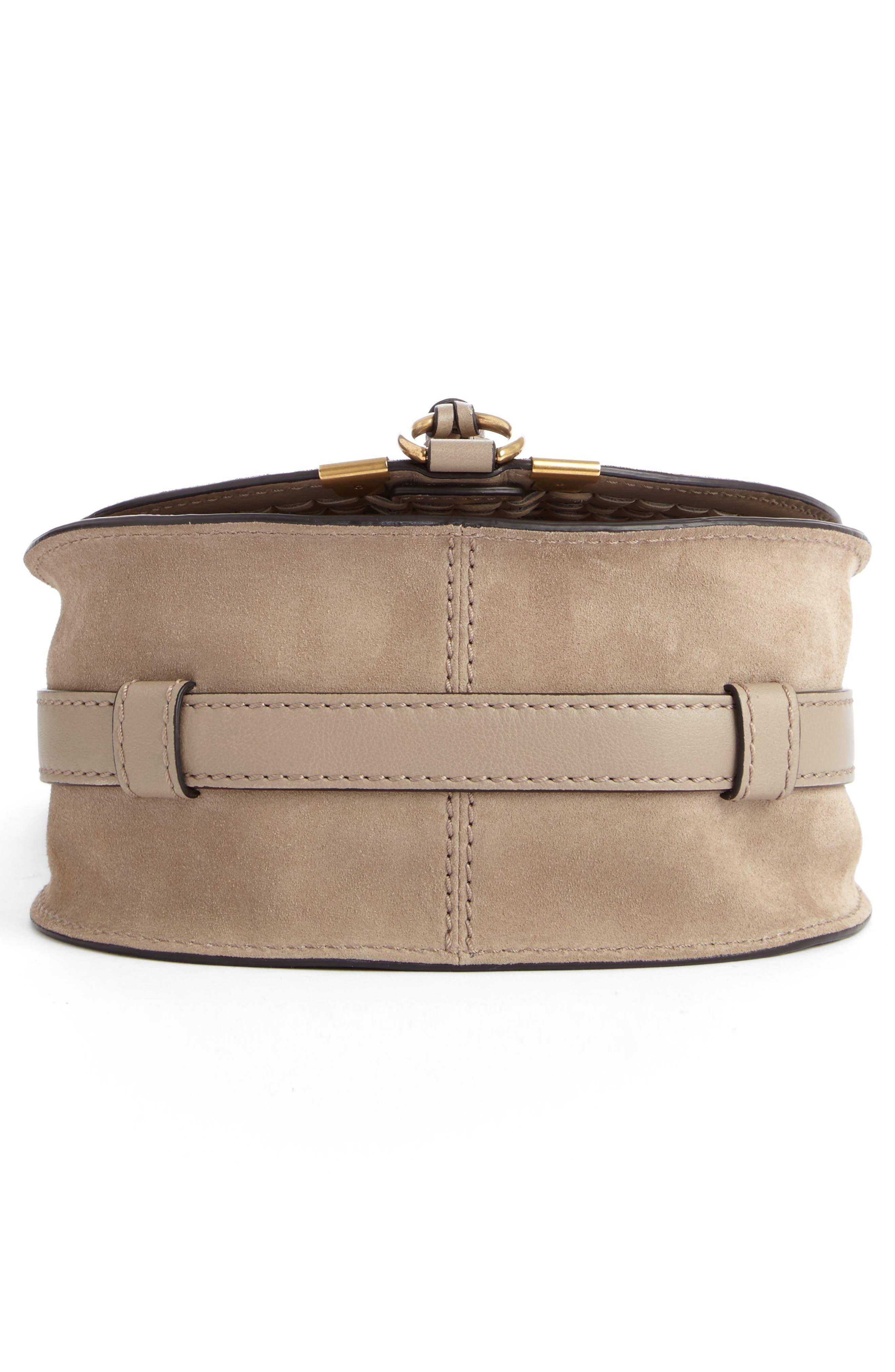 Alternate Image 5  - Chloé 'Mini Marcie' Suede Saddle Bag