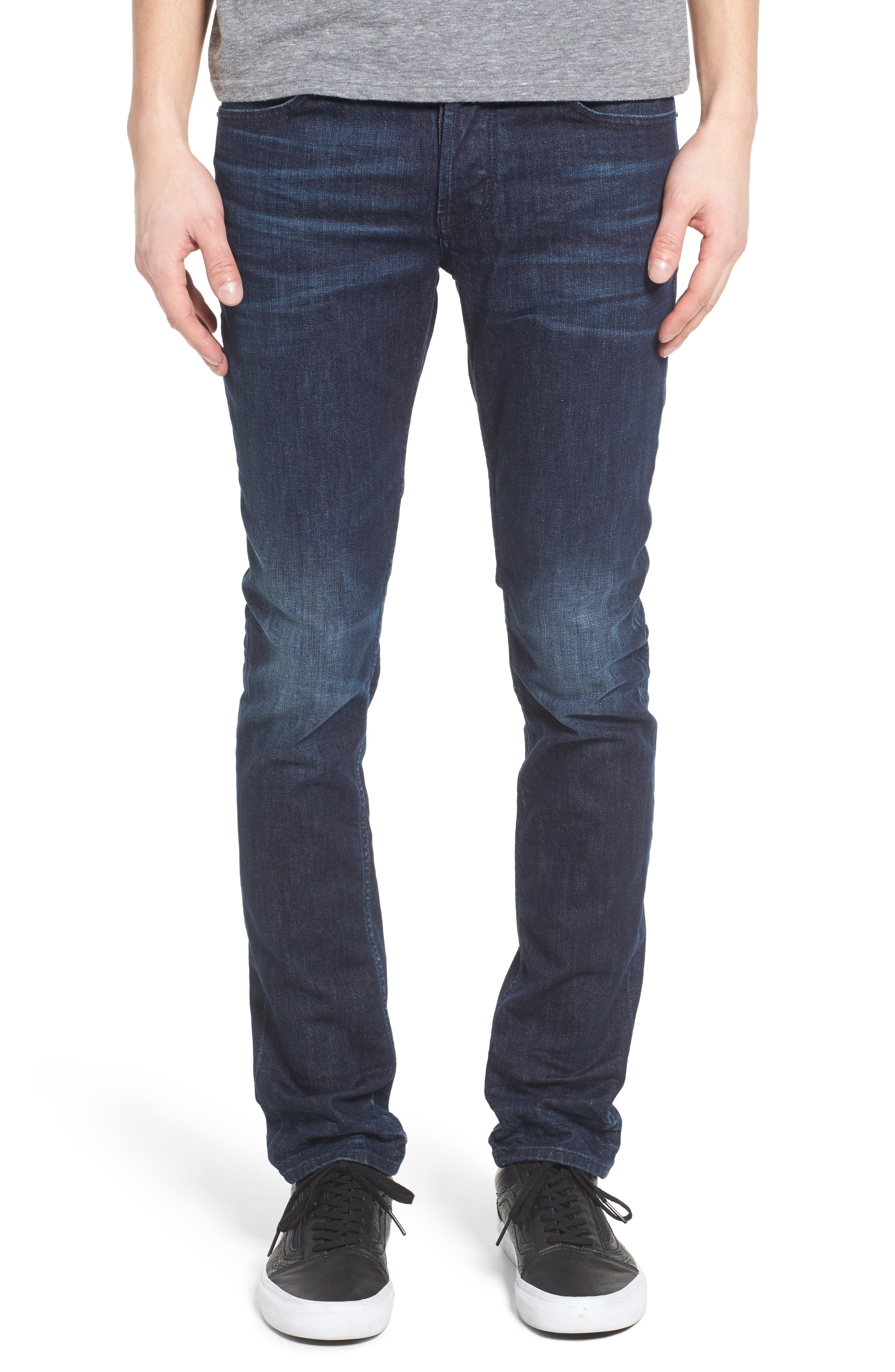 Hudson Jeans Axl Skinny Fit Jeans (Glove Game)