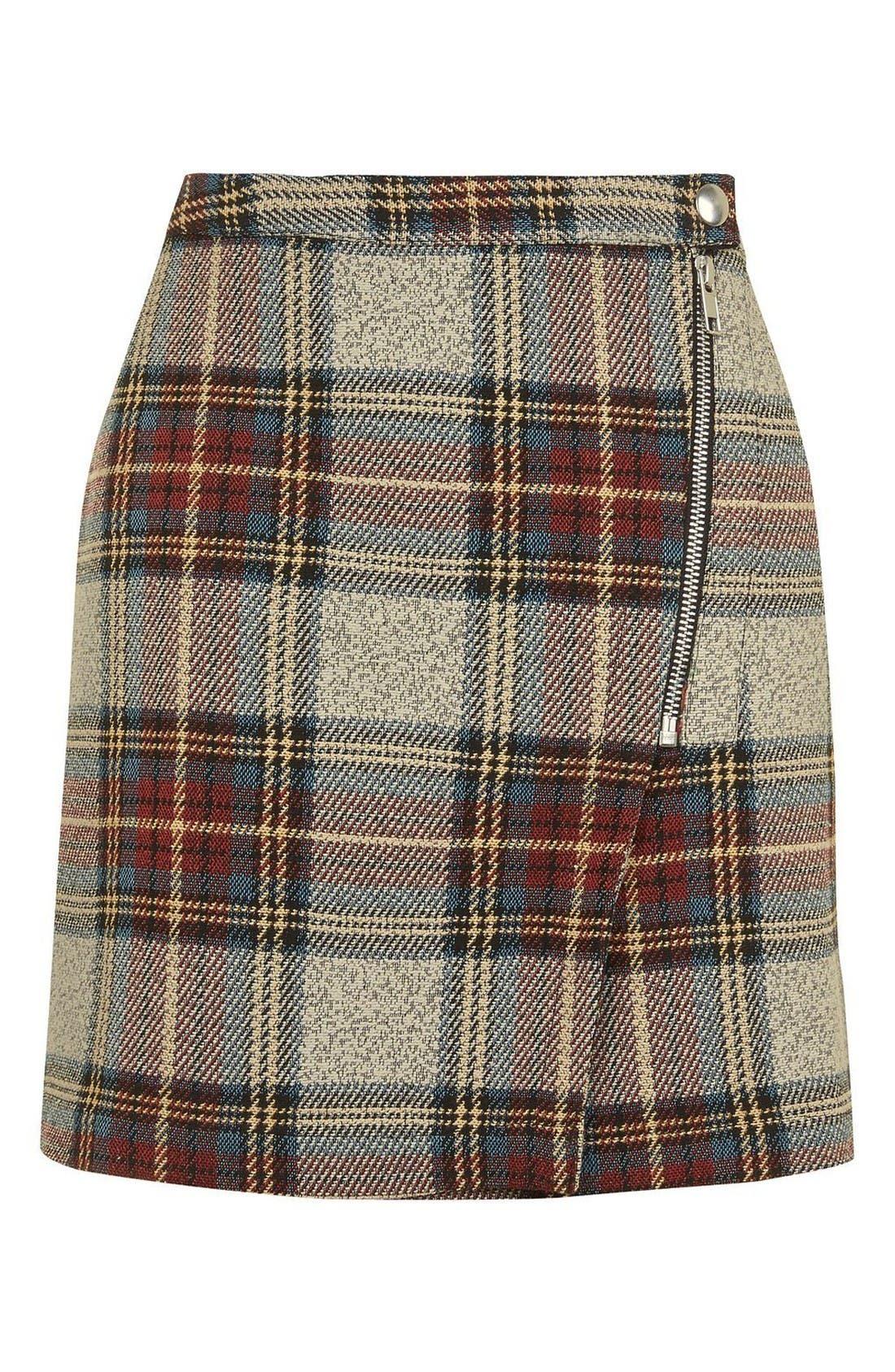 Alternate Image 5  - Topshop Plaid Wrap Miniskirt