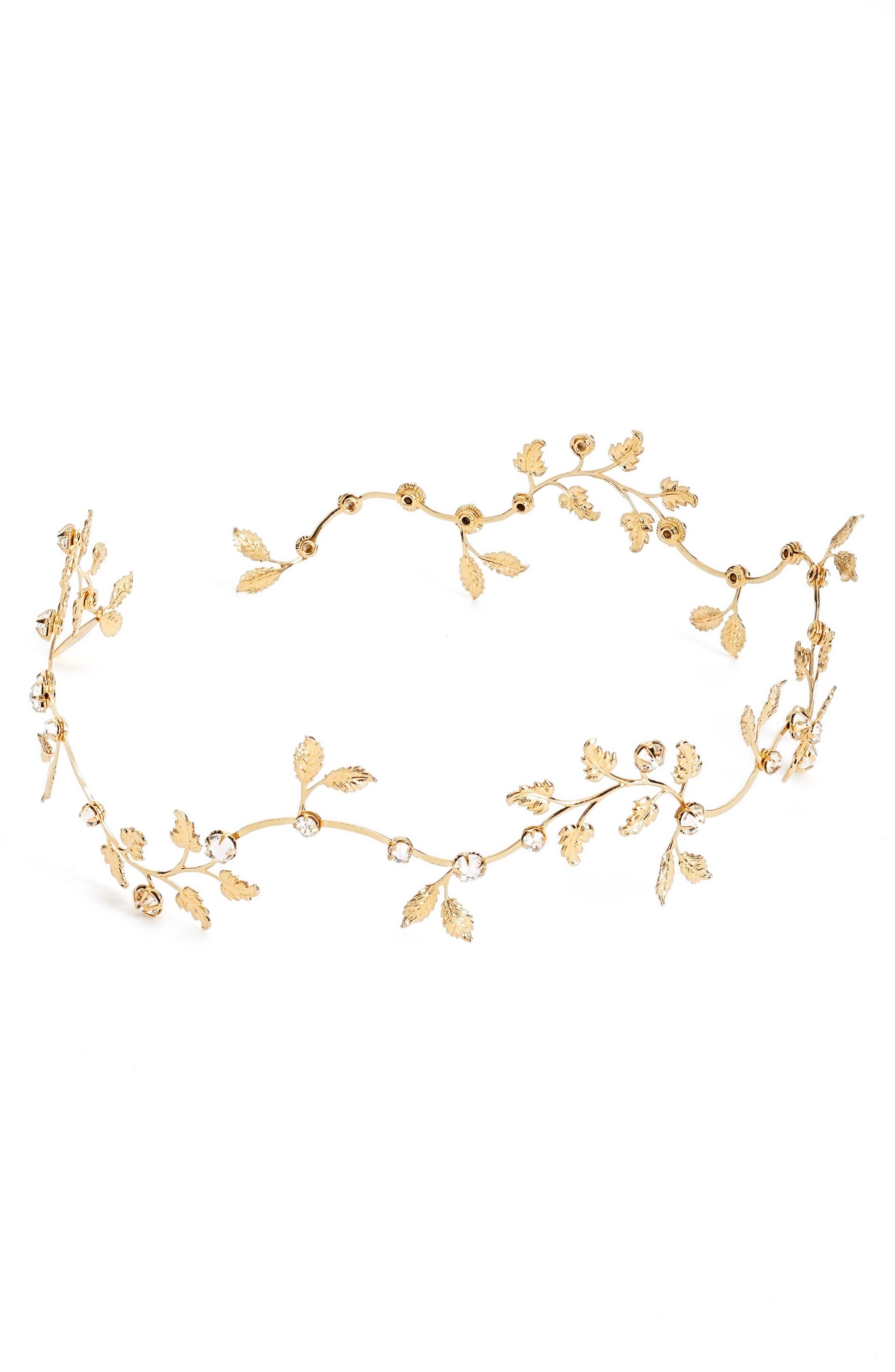 Alternate Image 2  - twigs & honey Dainty Gilded Leaf Headband