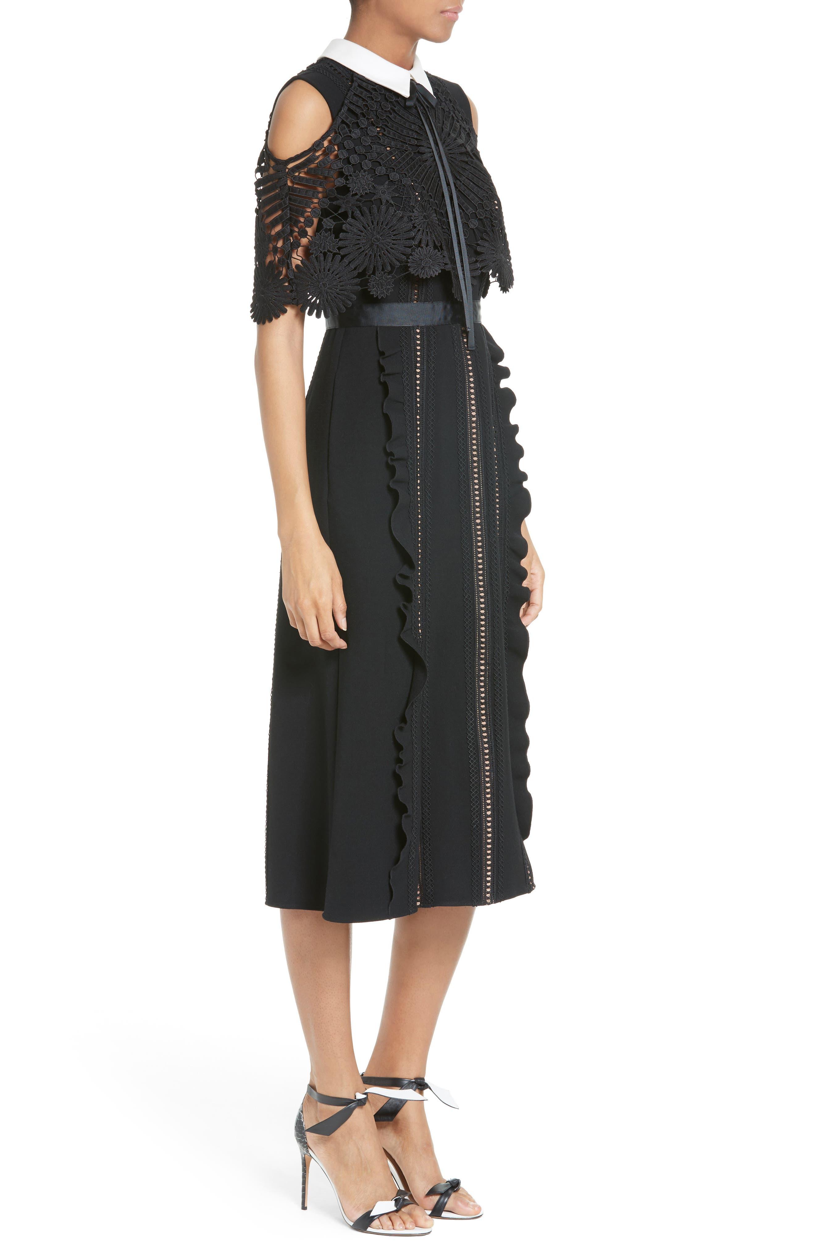 Alternate Image 3  - Self-Portrait Hinkley Cold Shoulder Midi Dress