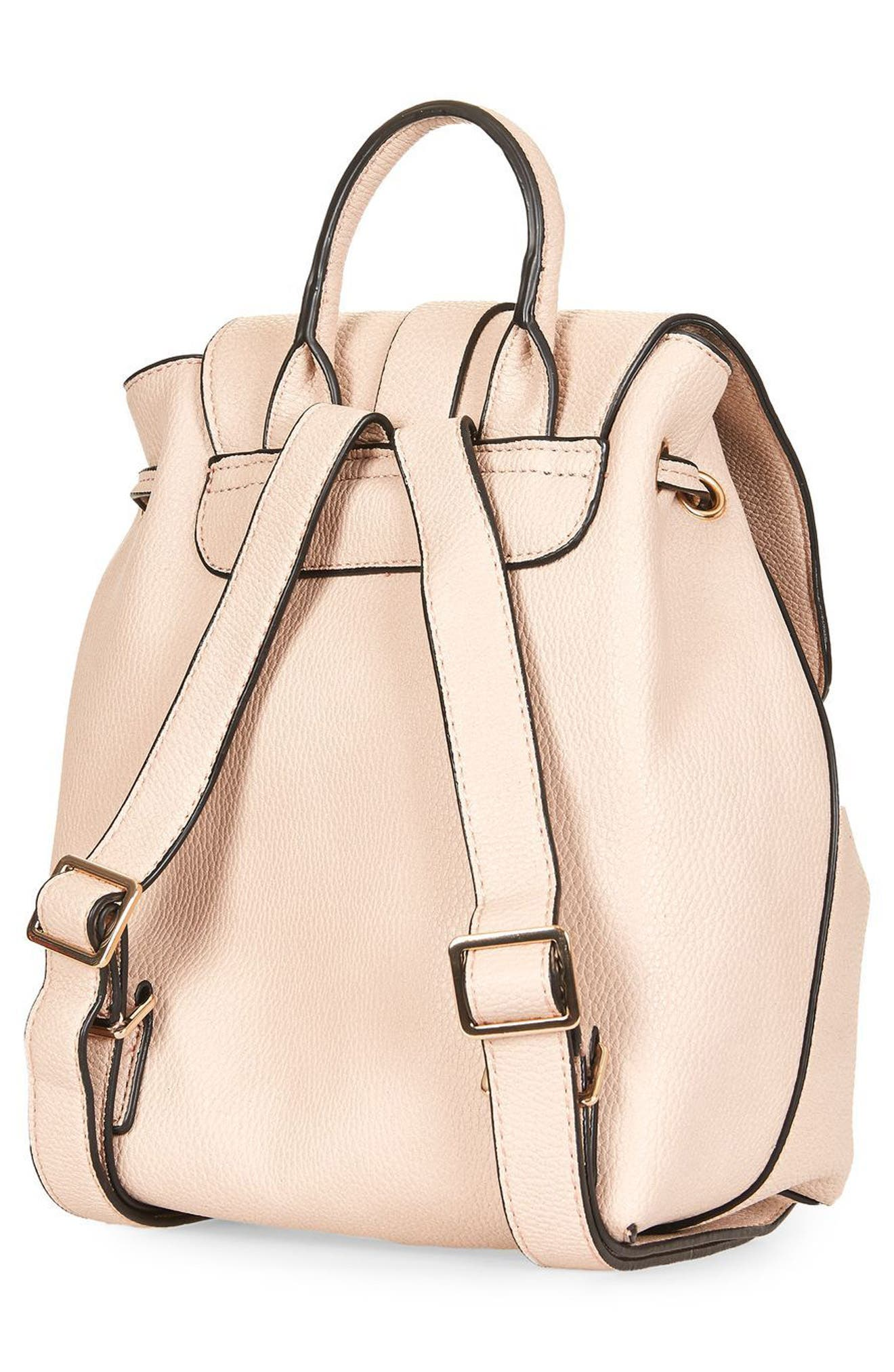 Alternate Image 3  - Topshop Mini Glasgow Faux Leather Backpack