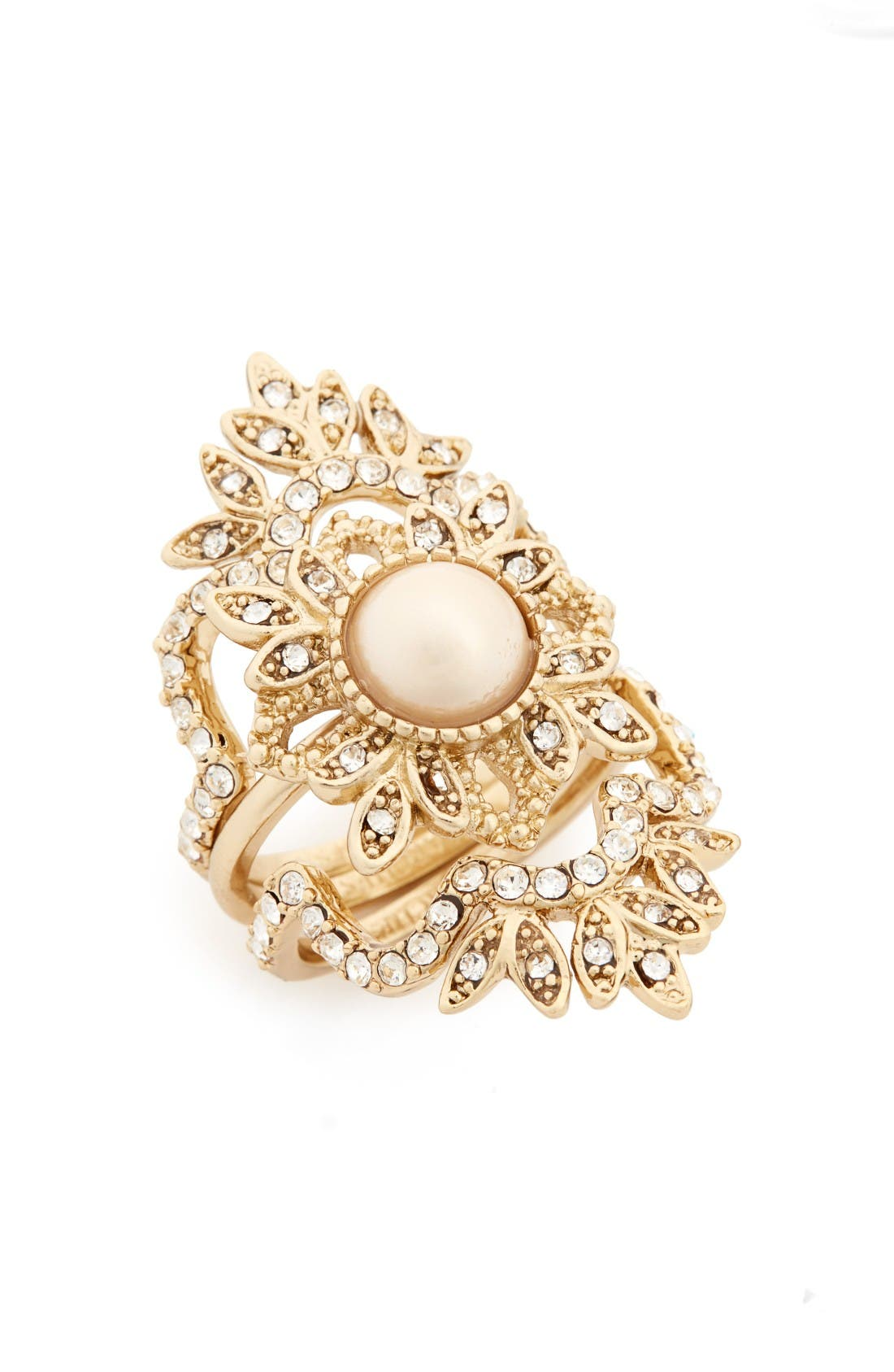 Alternate Image 1 Selected - Marchesa Set of 3 Stacking Rings