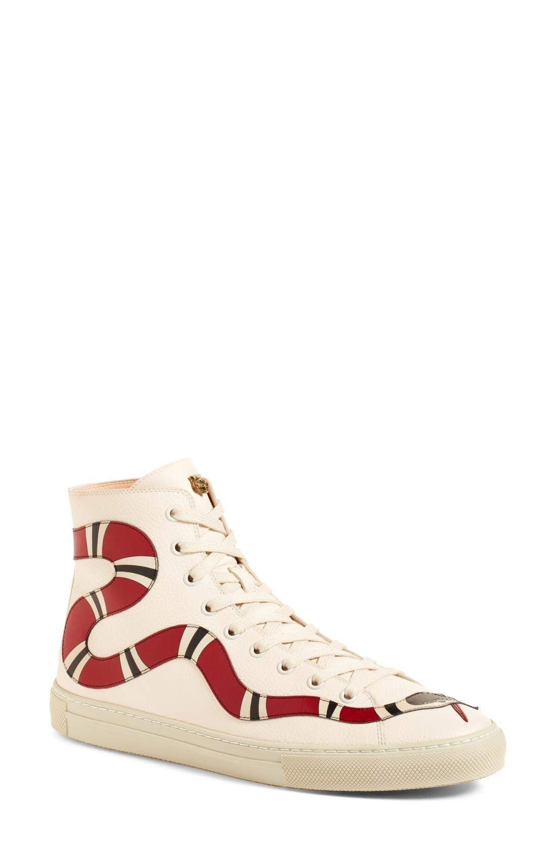 Alternate Image 1 Selected - Gucci Major Snake High Top Sneaker (Women)