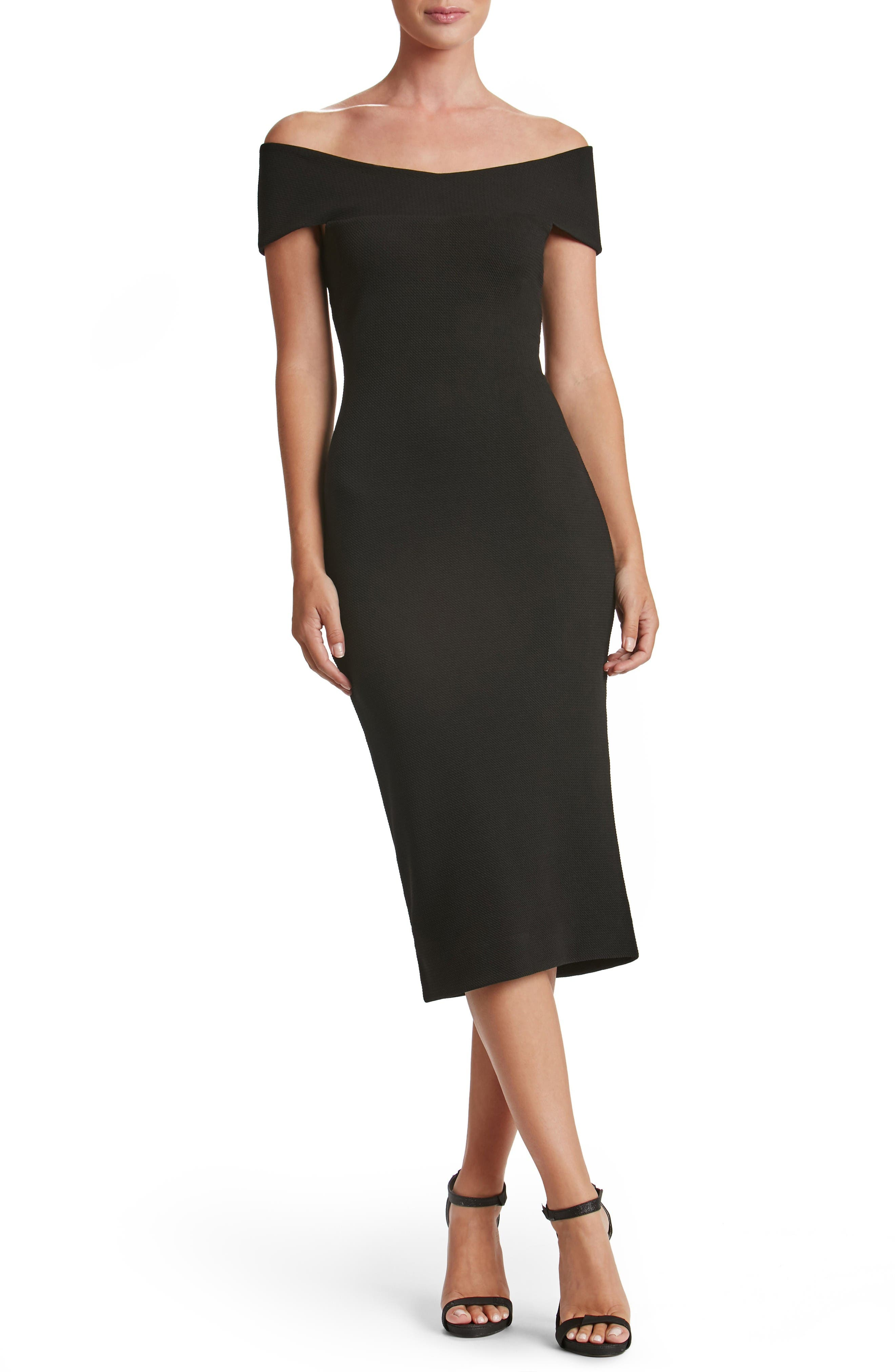 Dress the Population Claudette Textured Dress