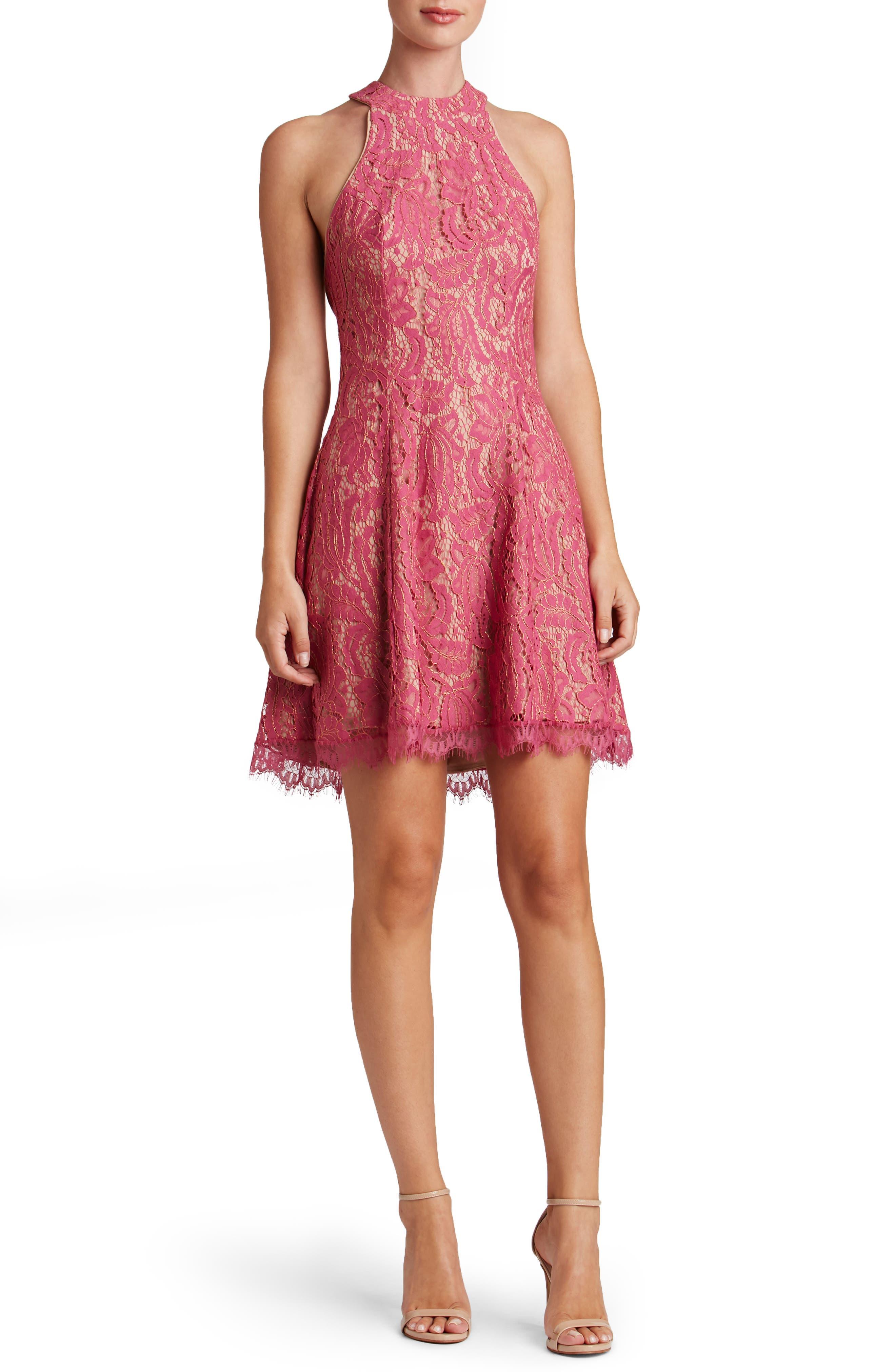 Alternate Image 3  - Dress the Population Angie Halter Dress