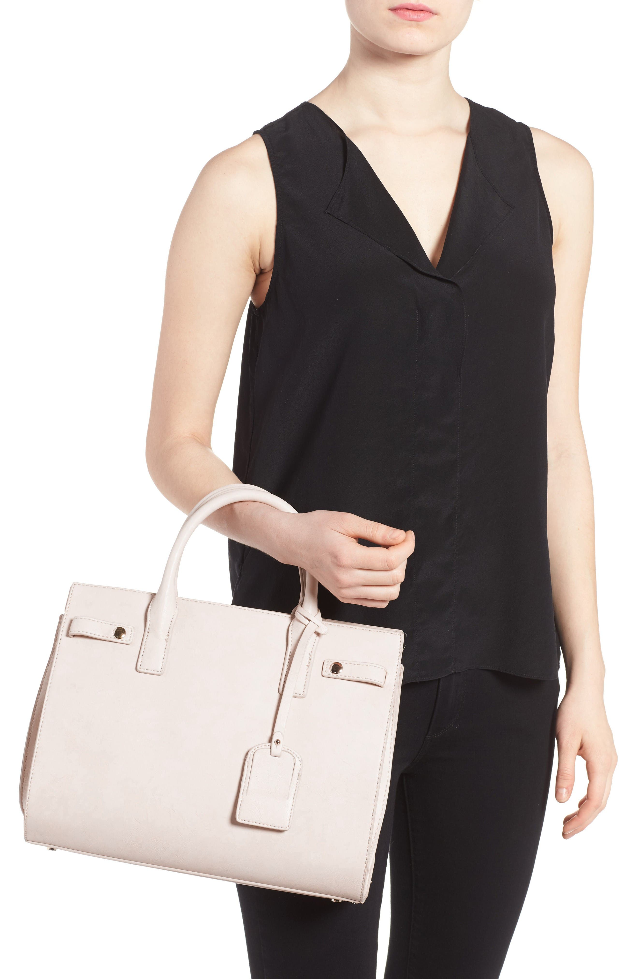 Alternate Image 2  - Sole Society Athenia Faux Leather Satchel