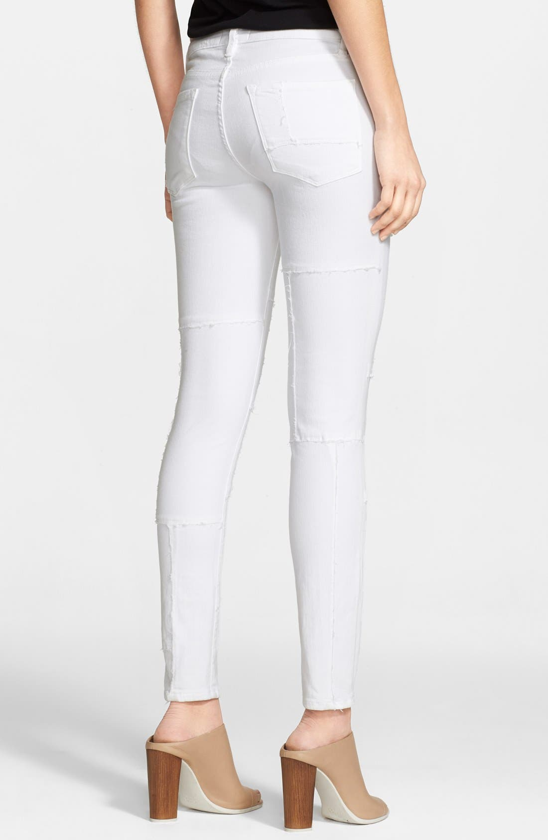 Alternate Image 2  - Frame Denim 'Le Skinny Panel' Skinny Jeans (Blanc)