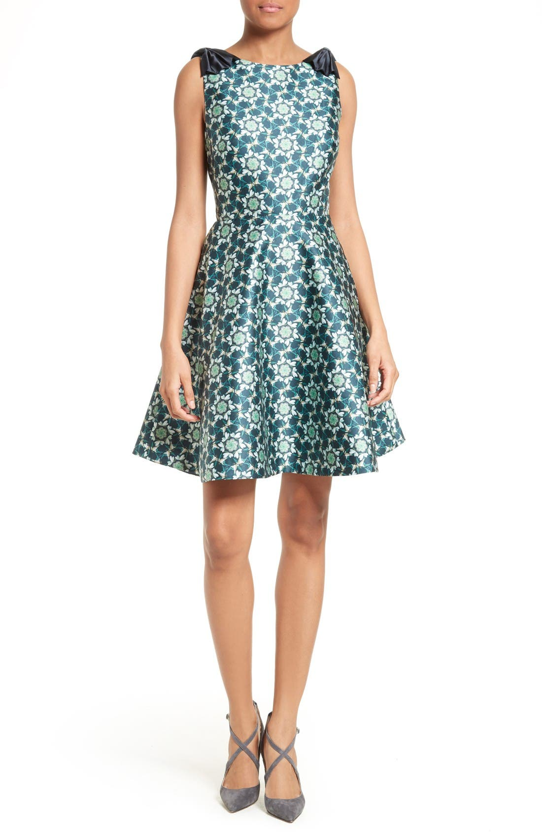 TED BAKER LONDON Sainte Kaleidoscope Faille Fit &