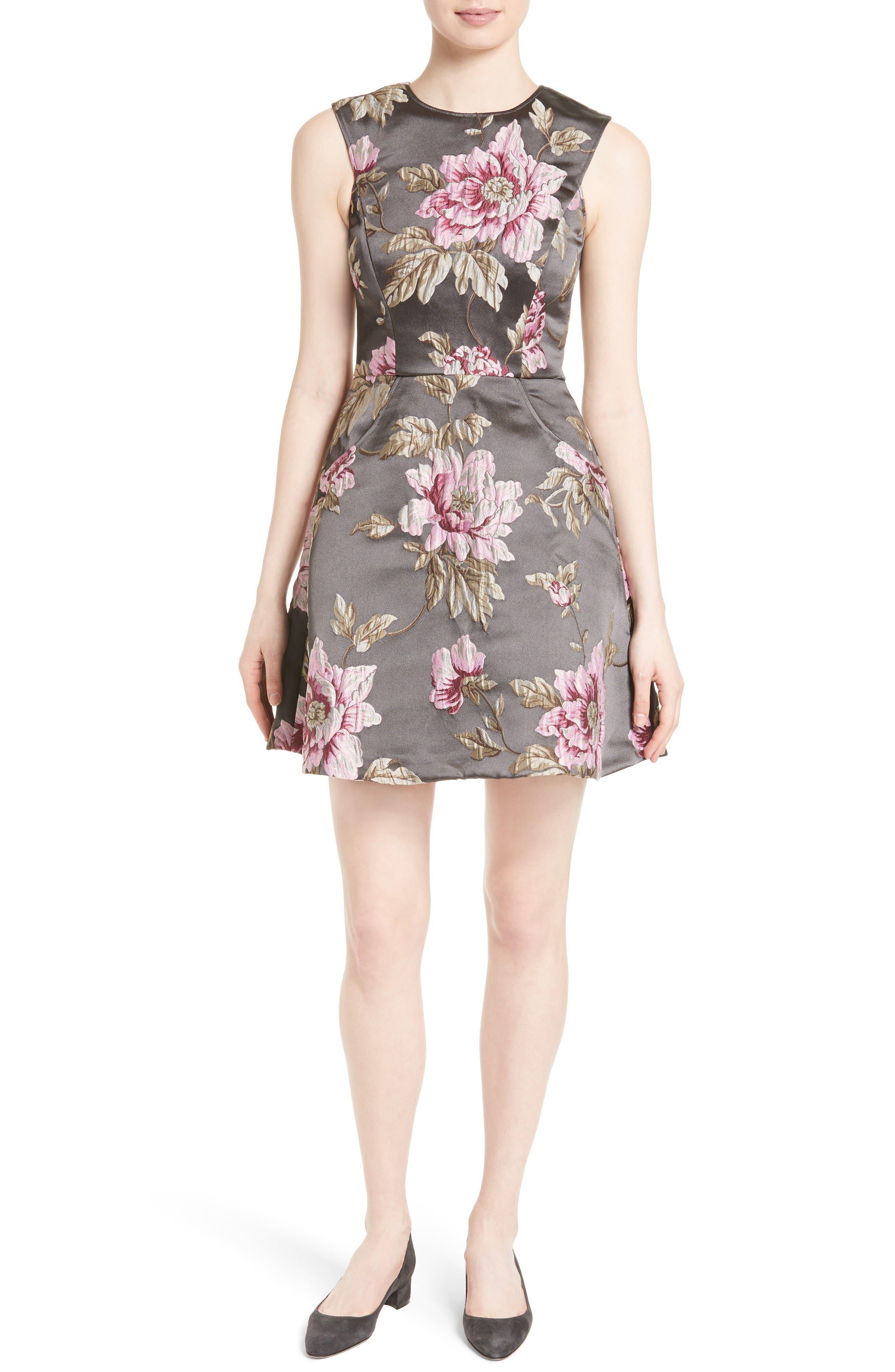 TED BAKER LONDON Kinella Floral Jacquard Skater Dress