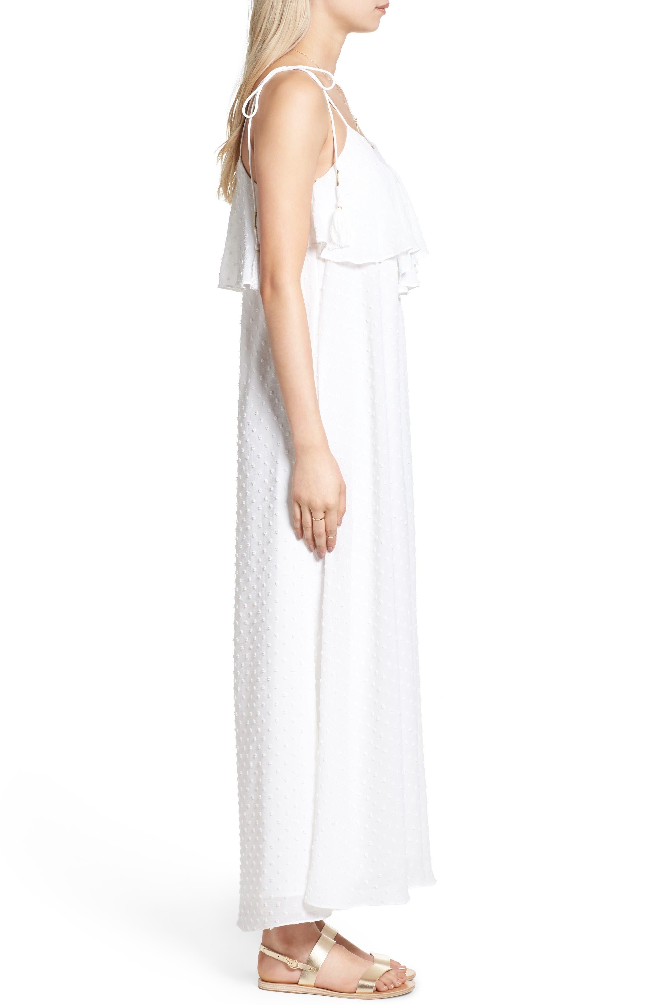 Alternate Image 4  - MOON RIVER Swiss Dot Maxi Dress