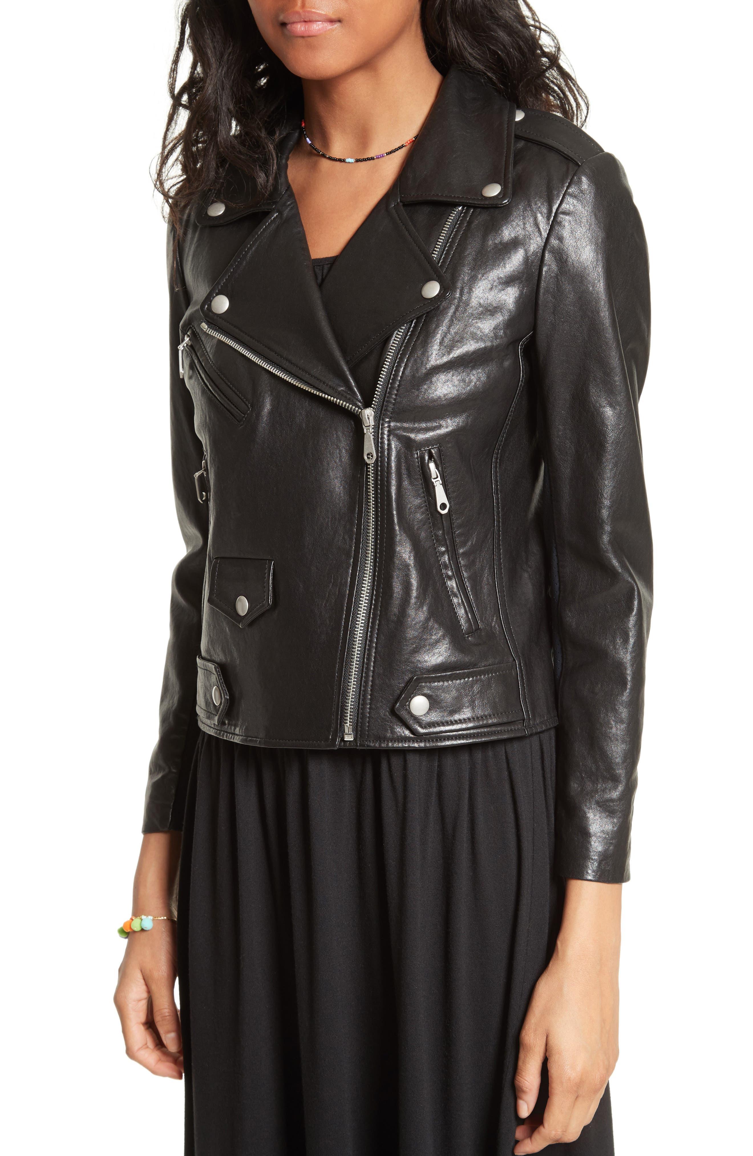 Alternate Image 5  - Rebecca Minkoff Wes Moto Leather & Neoprene Jacket