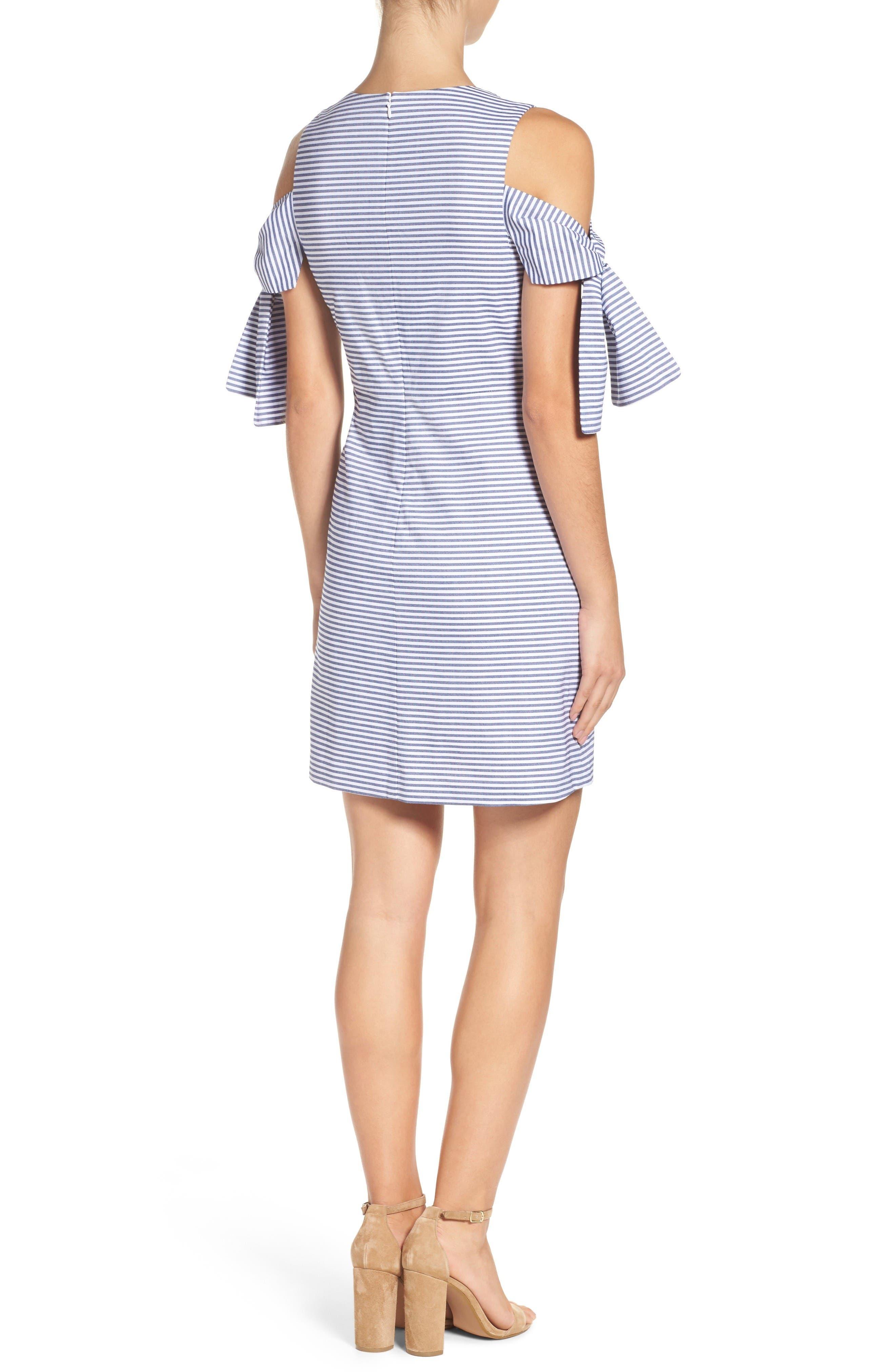 Alternate Image 2  - Chelsea28 Cold Shoulder Shift Dress